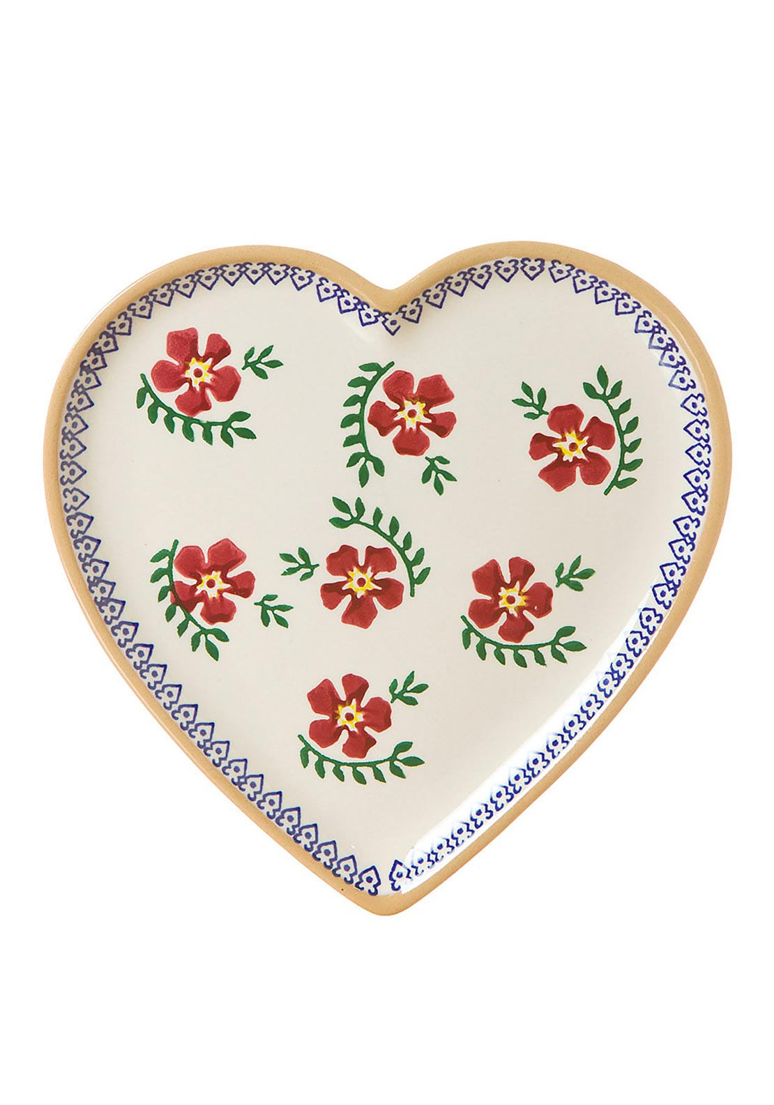 Nicholas Mosse Pottery Old Rose Heart Plate, Medium