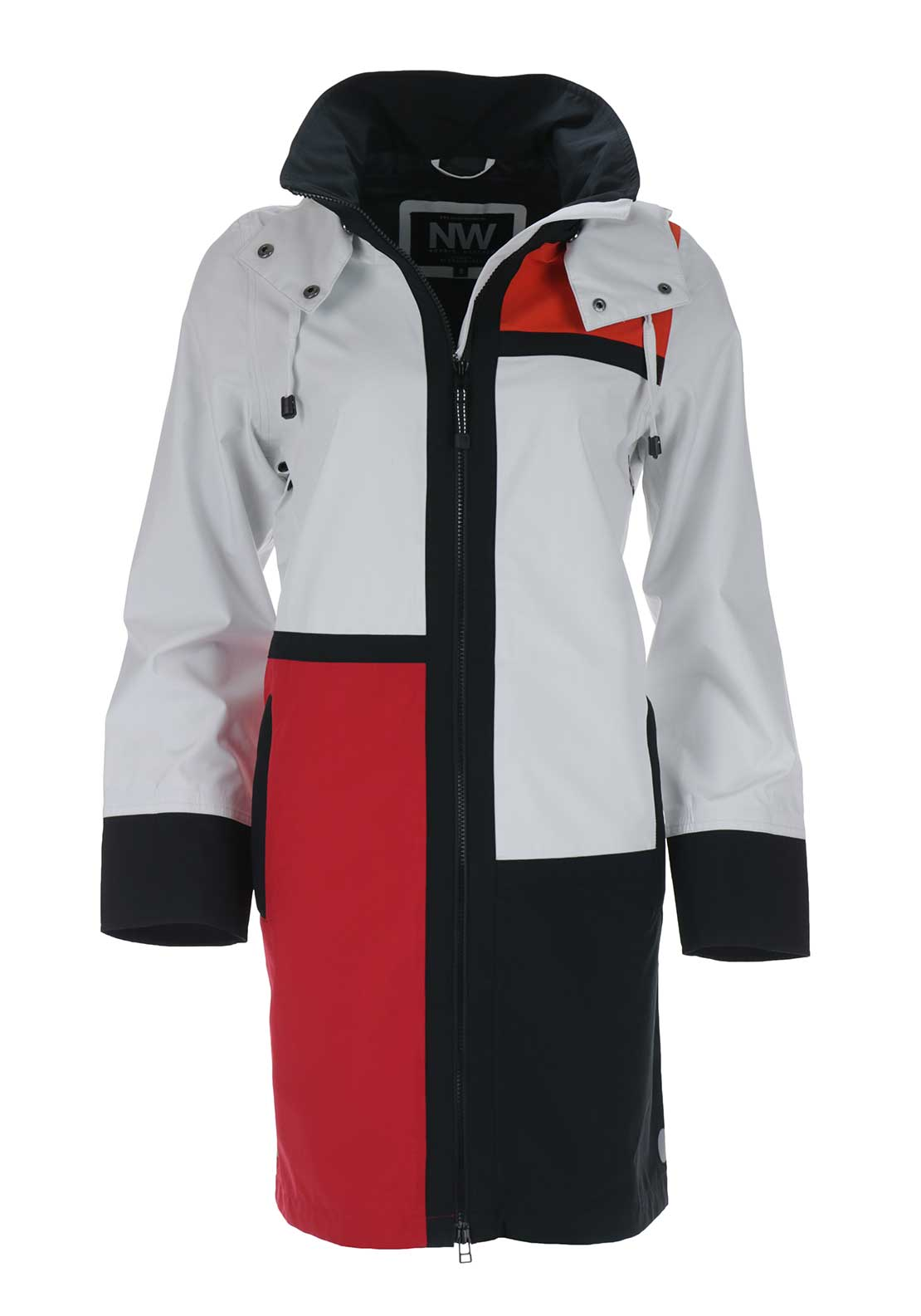 Nordic Weather Waterproof Coat, Red Multi