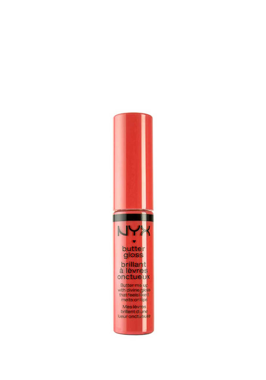 NYX Make Up Butter Gloss Lip Gloss, 06 Peach Cobbler