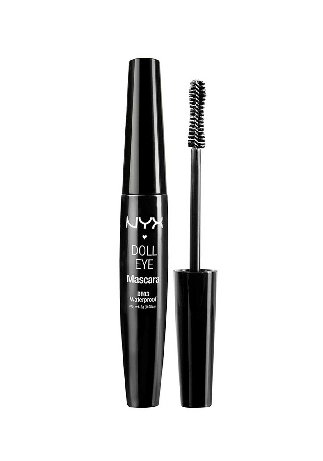 NYX Make Up Doll Eye Mascara, Extreme Jet Black