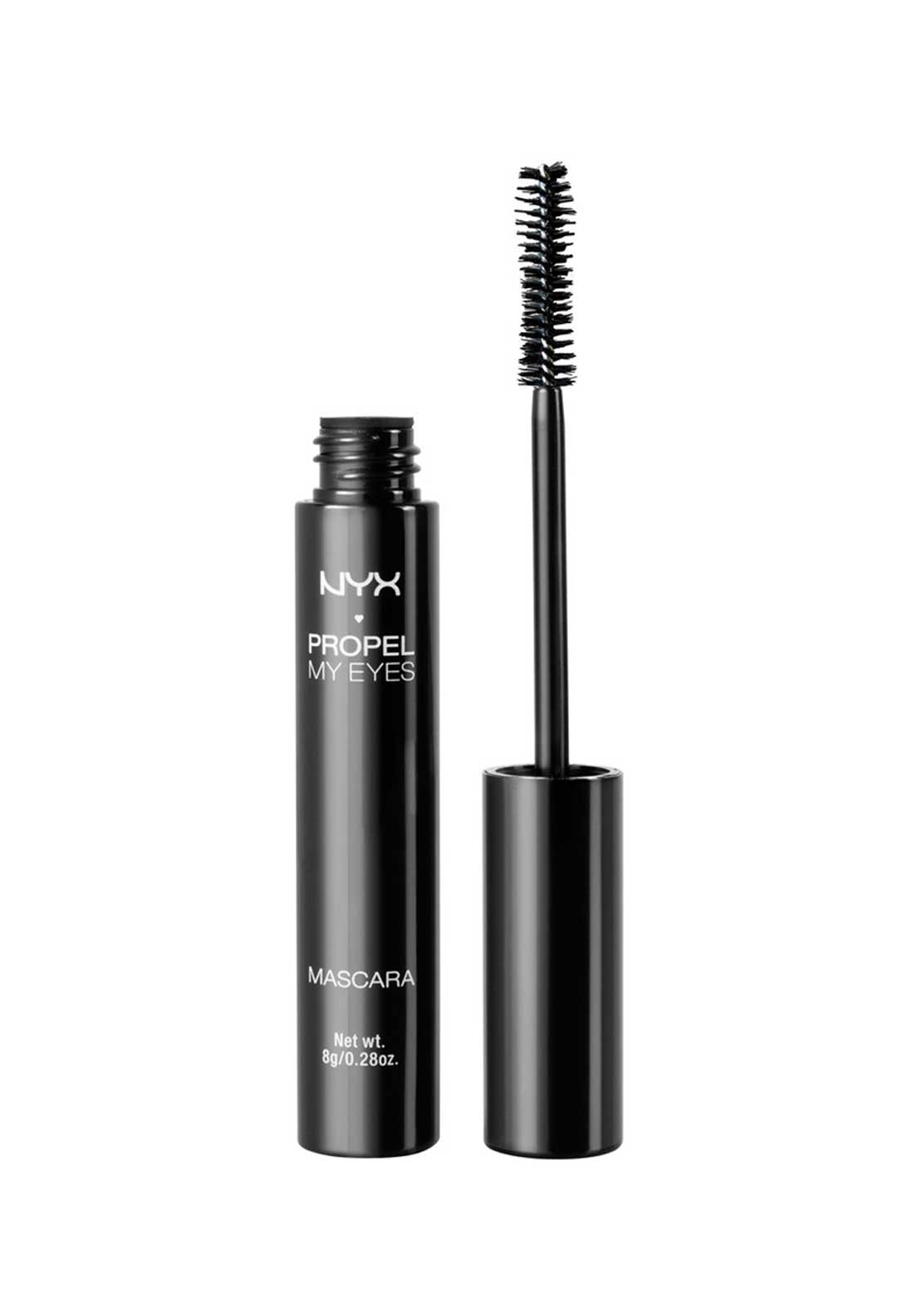 NYX Make Up Propel My Eyes Mascara, Jet Black