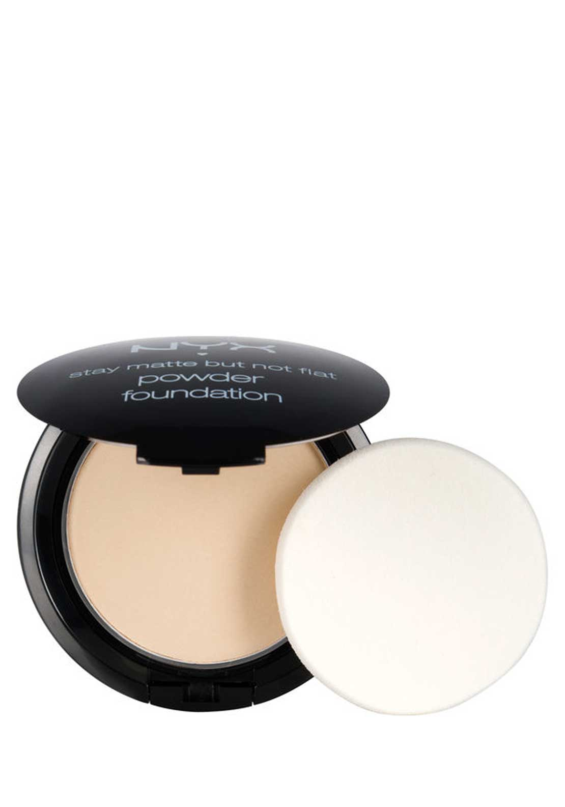 NYX Make Up Stay Matte but not flat Powder Foundation, 01 Ivory