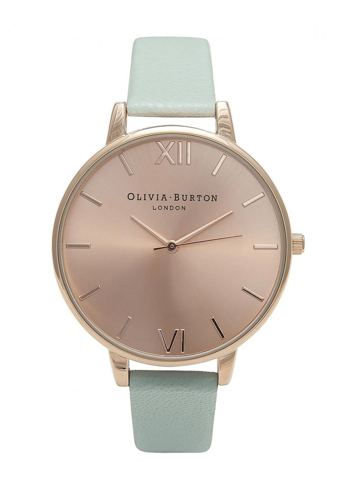 Olivia Burton Big Dial Watch, Mint & Rose Gold