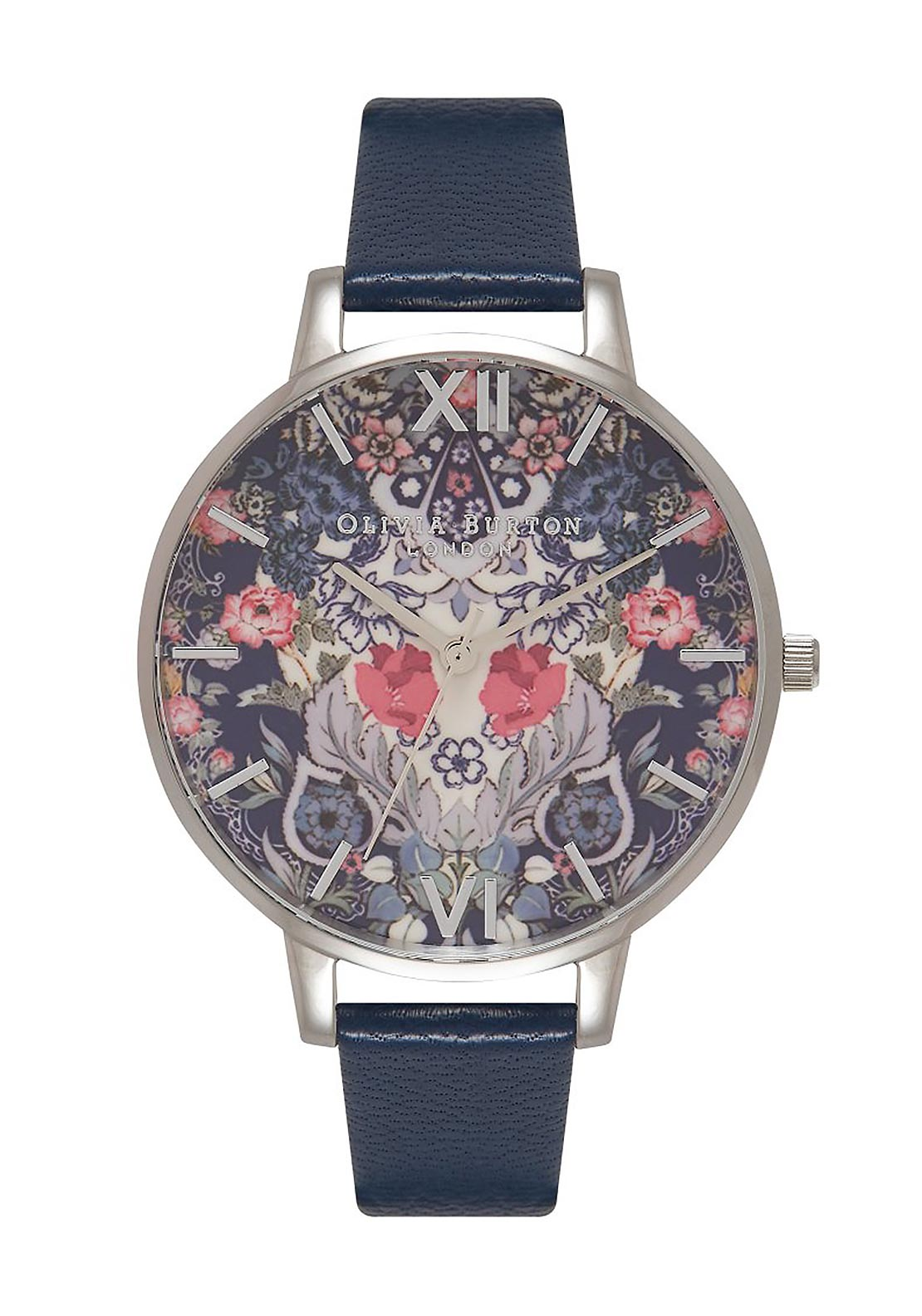 Olivia Burton Enchanted Garden Watch, Navy & Silver
