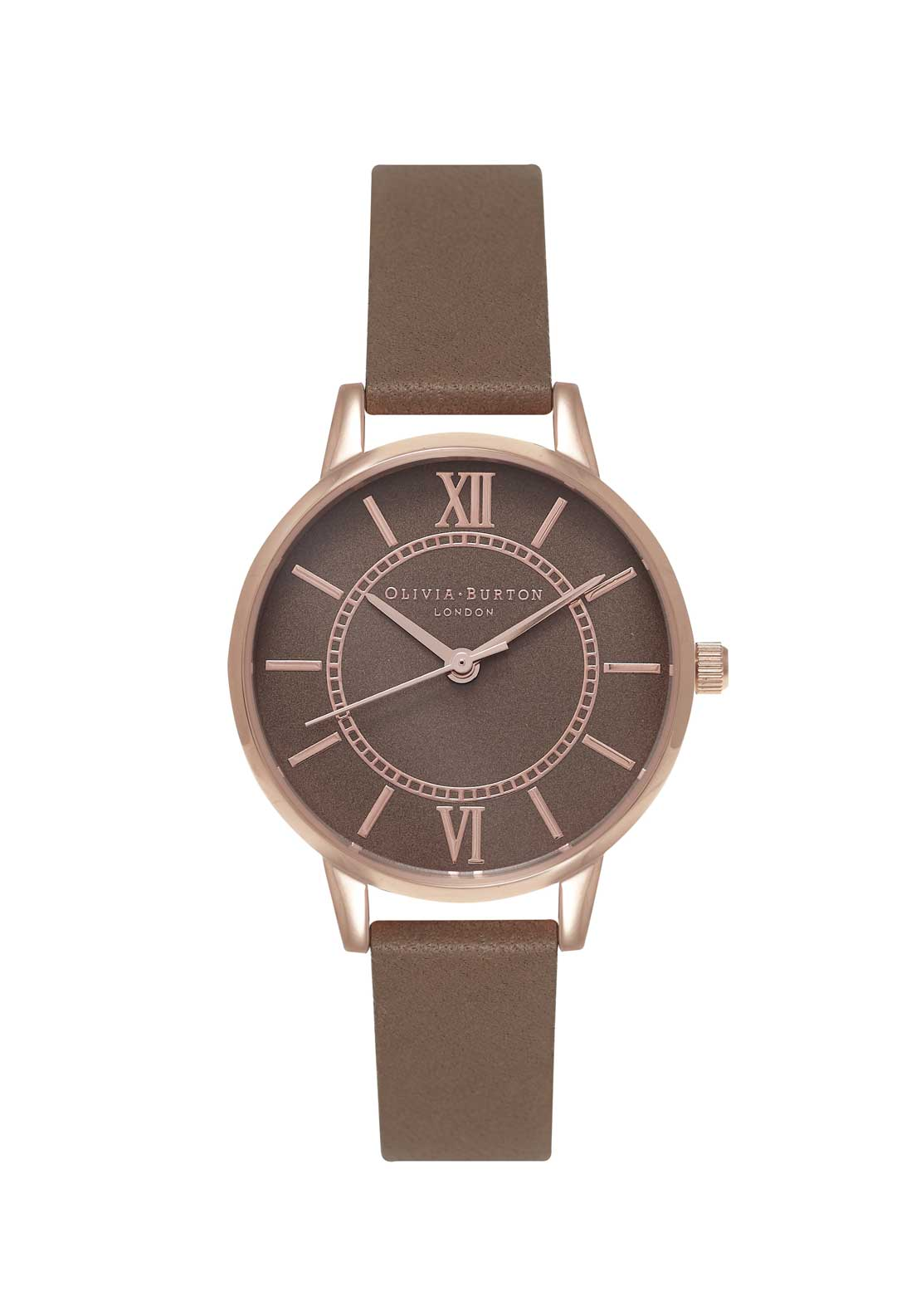Olivia Burton Wonderland Watch in Taupe, Rose Gold