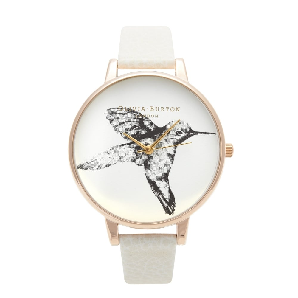 Olivia Burton Animal Motif Hummingbird Mink & Rose Gold