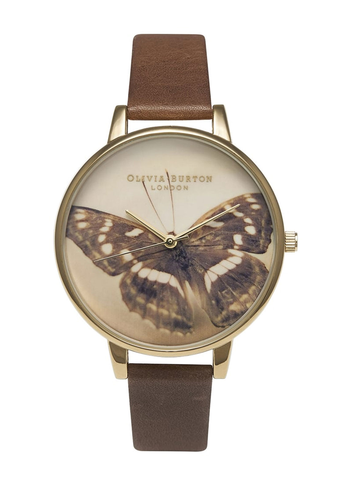 Olivia Burton London Woodland Butterfly Watch, Brown and Gold