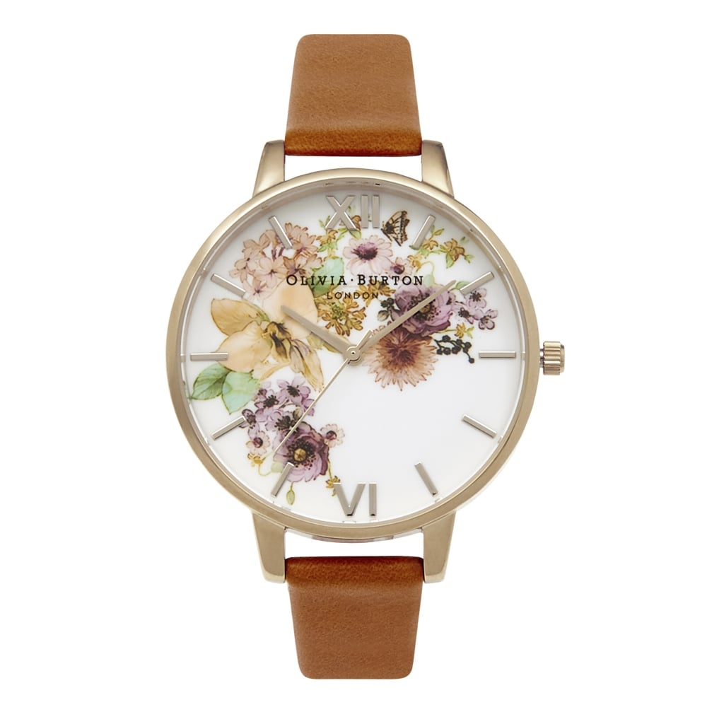 Olivia Burton Flower Show Watercolour & Tan
