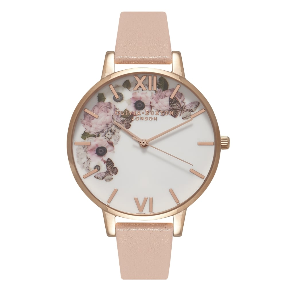 Olivia Burton Enchanted Garden Dusty Pink, White & Rose Gold