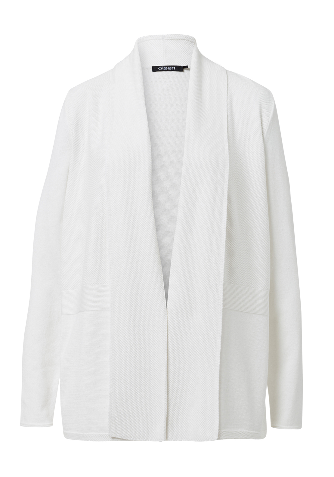 Olsen Cotton Blend Cardigan, Ivory