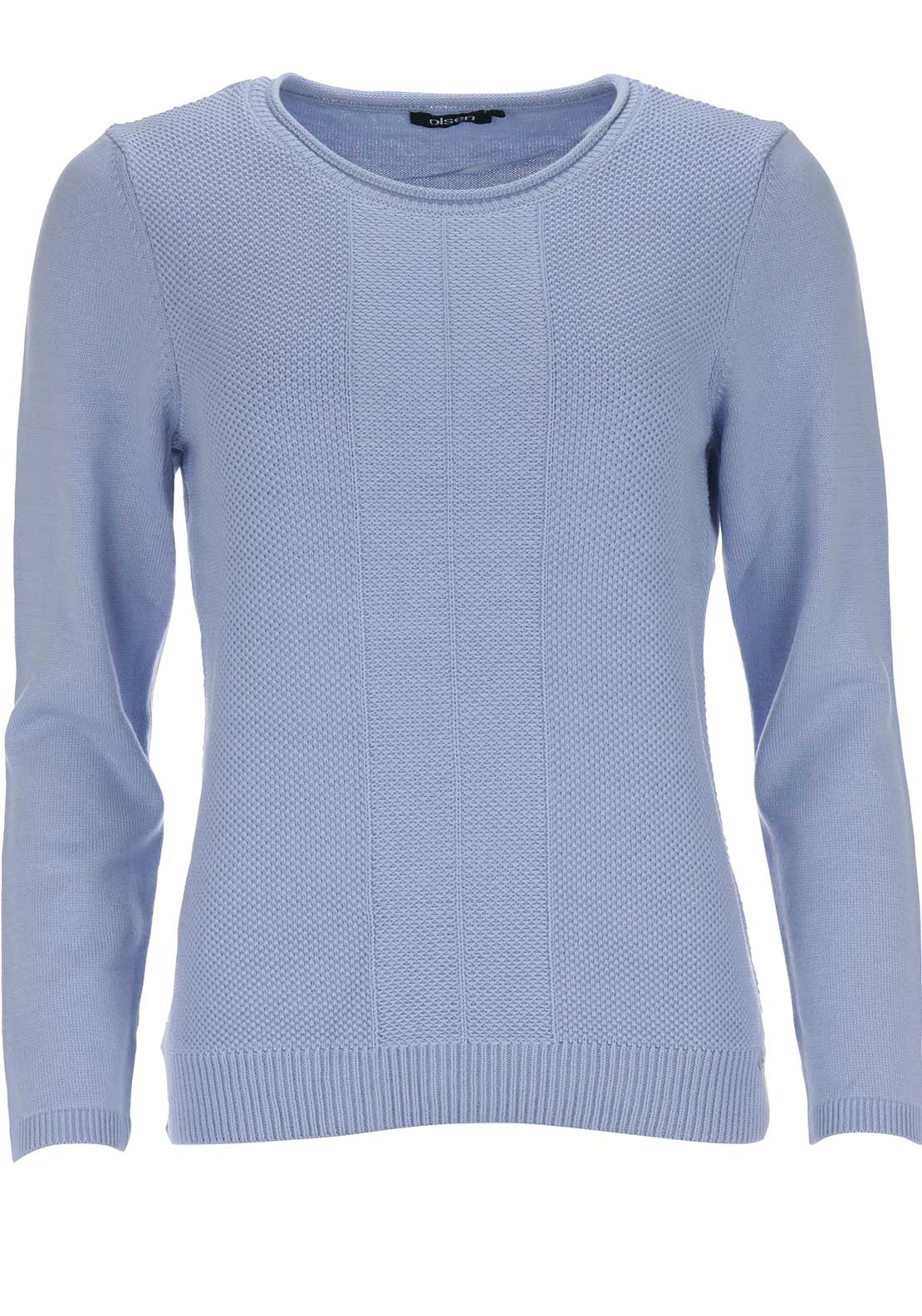 Olsen Textured Knit Jumper, Pale Blue