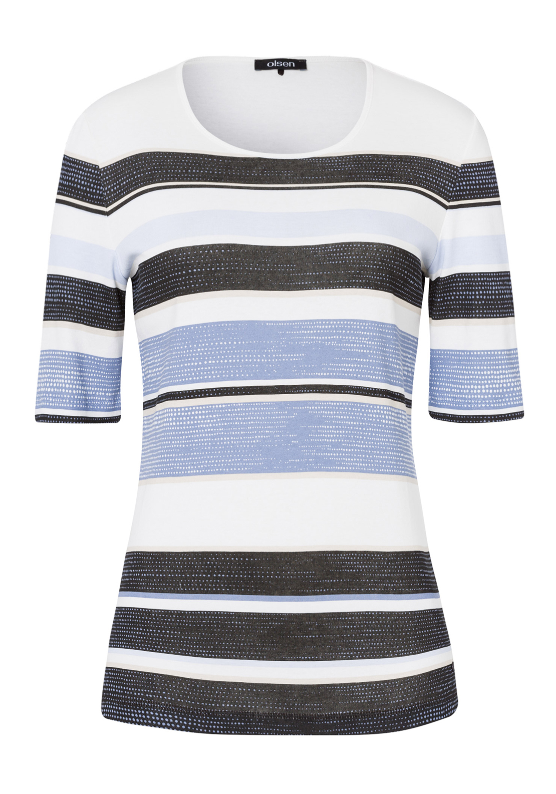 Olsen Striped Short Sleeve T-Shirt, Blue Multi