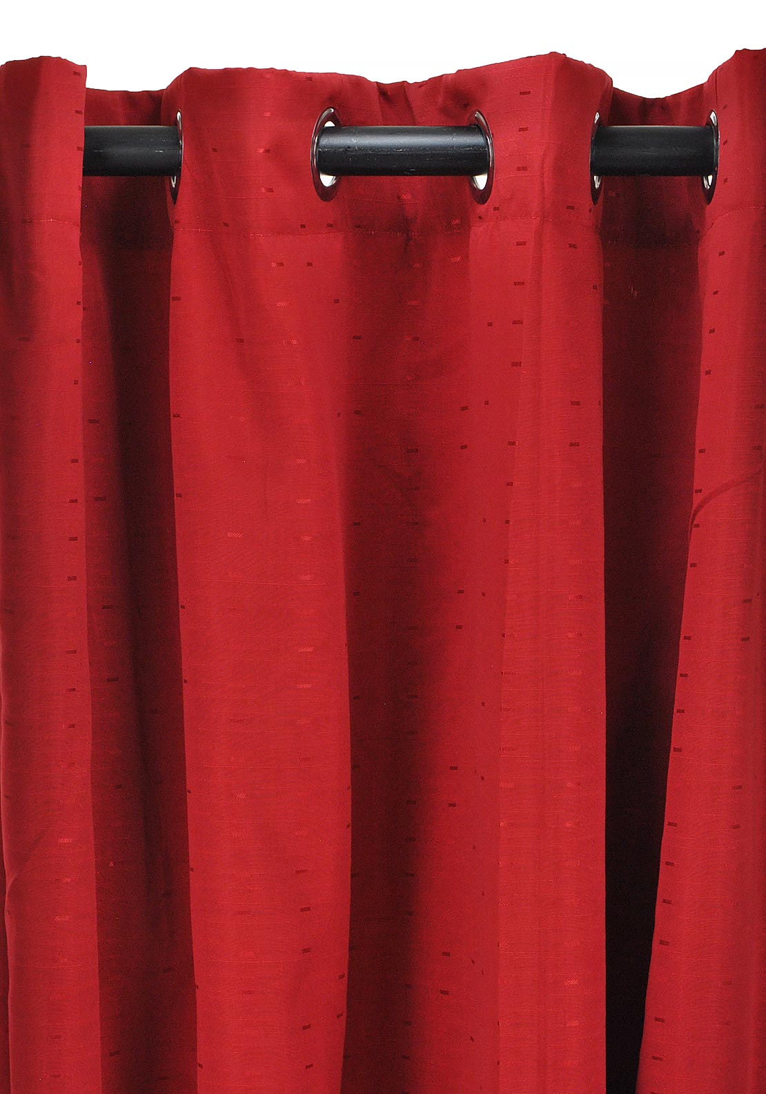 Wilton Collection Miami Readymade Eyelet Curtains, Red 269 x 229cm
