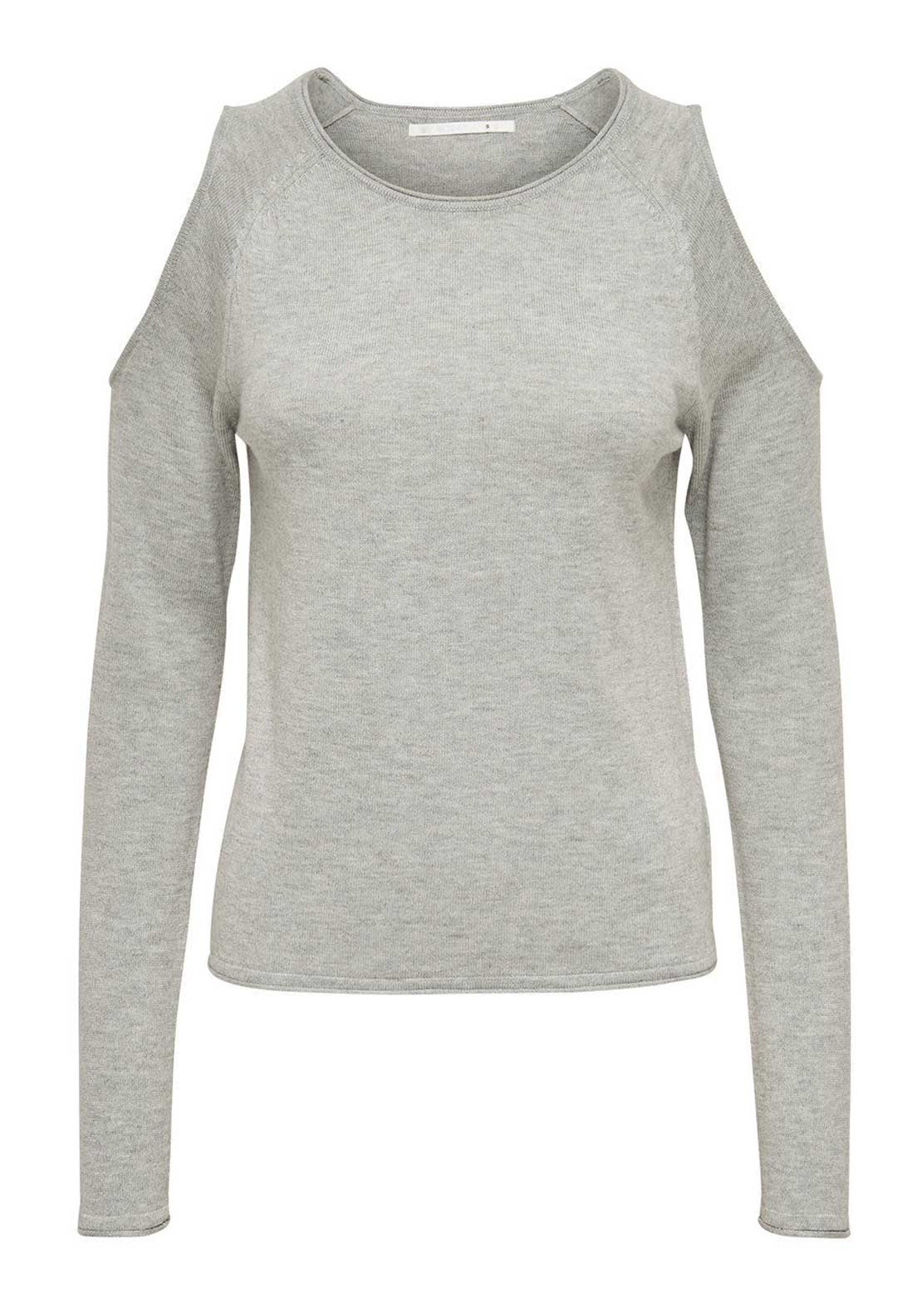 Only New Cold Shoulder Sweater Jumper, Grey