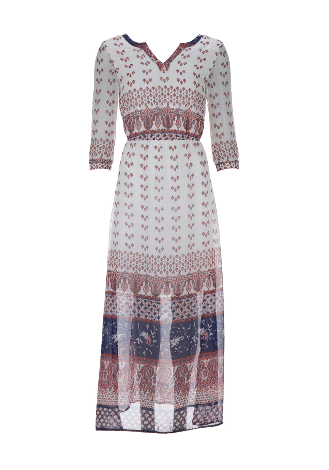 Only Emmi Brocade Cropped Sleeve Maxi Dress, Cloud Dancer