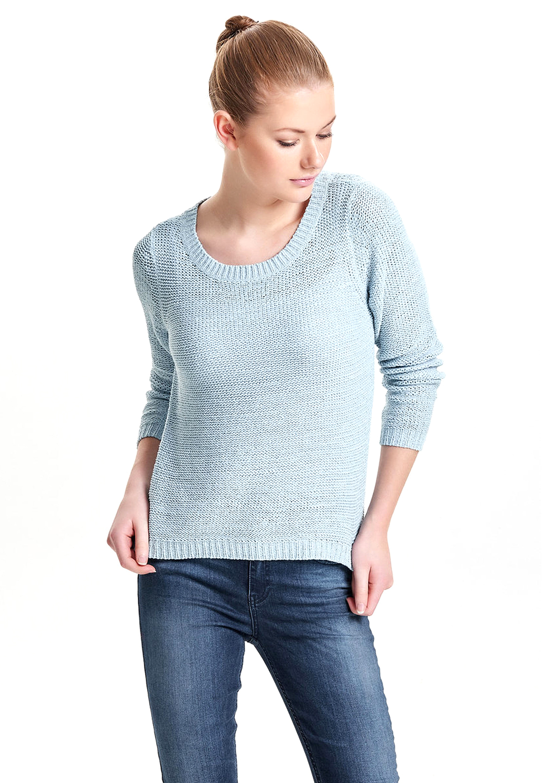 Only Geena Knitted Sweater Jumper, Cashmere Blue