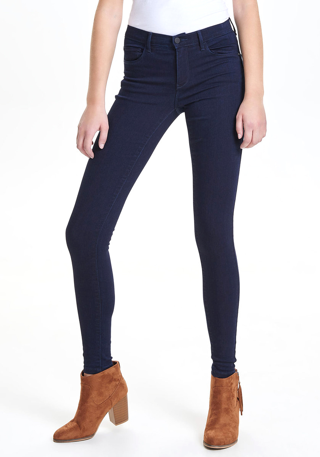 Only Rain Regular Fit Skinny Jeans, Navy