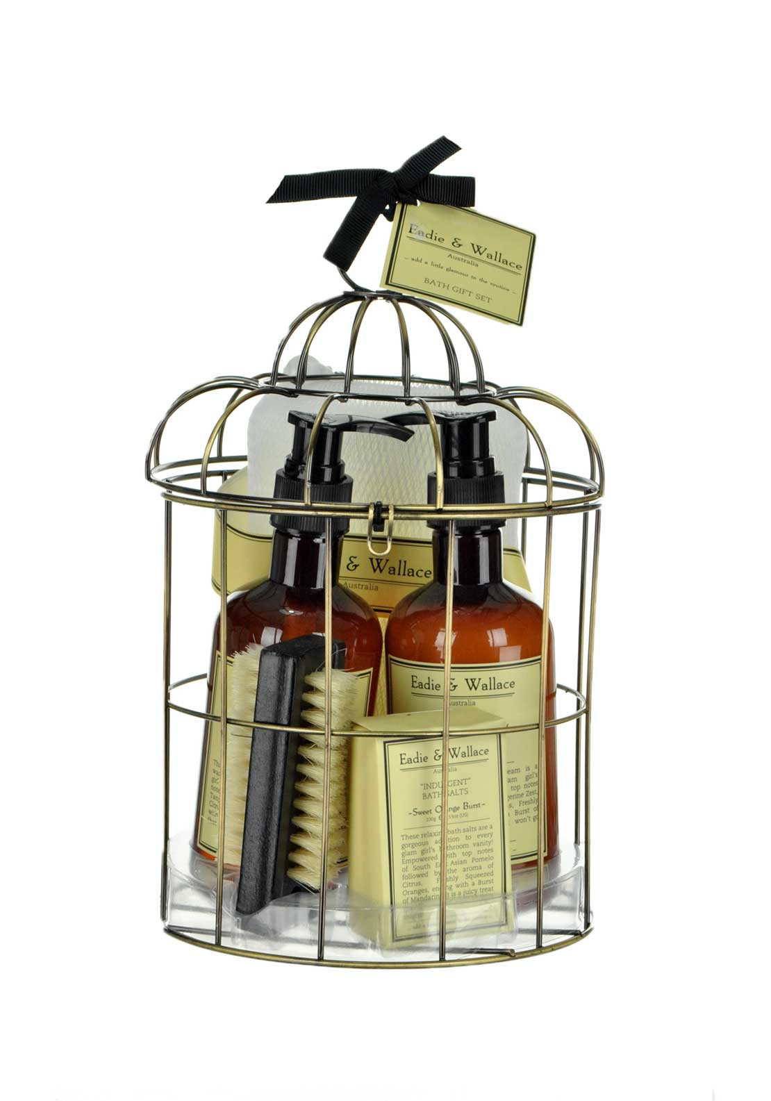 Eadie & Wallace Indulgent Caged Bath Gift Set, Sweet Orange Burst