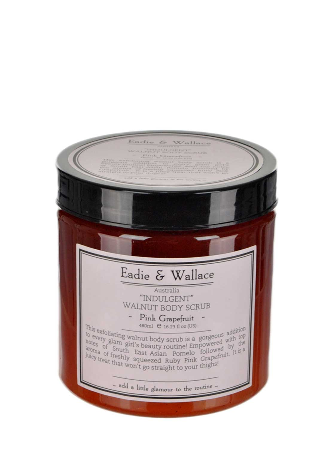 Eadie & Wallace Indulgent Walnut Body Scrub, Pink Grapefruit