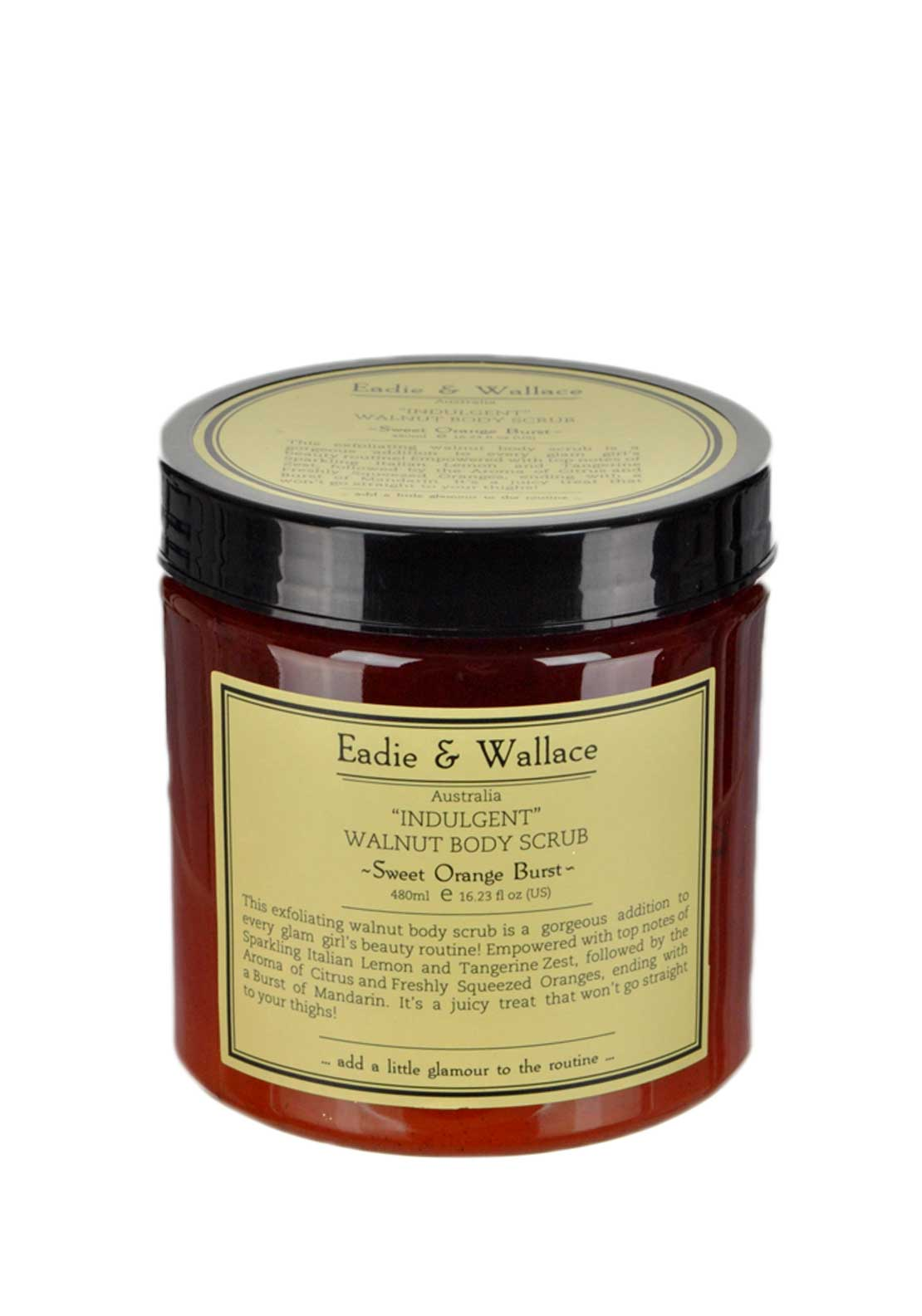 Eadie & Wallace Indulgent Walnut Body Scrub, Sweet Orange Burst