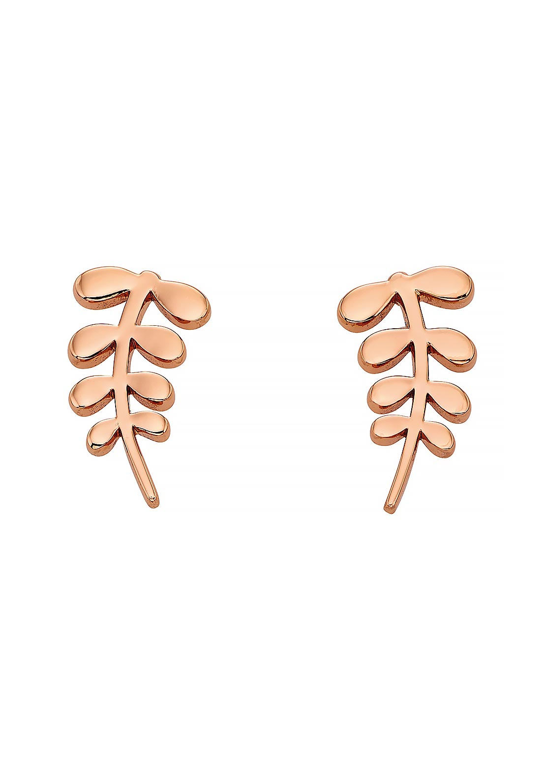 Orla Kiely Stem Stud Earrings, Rose Gold