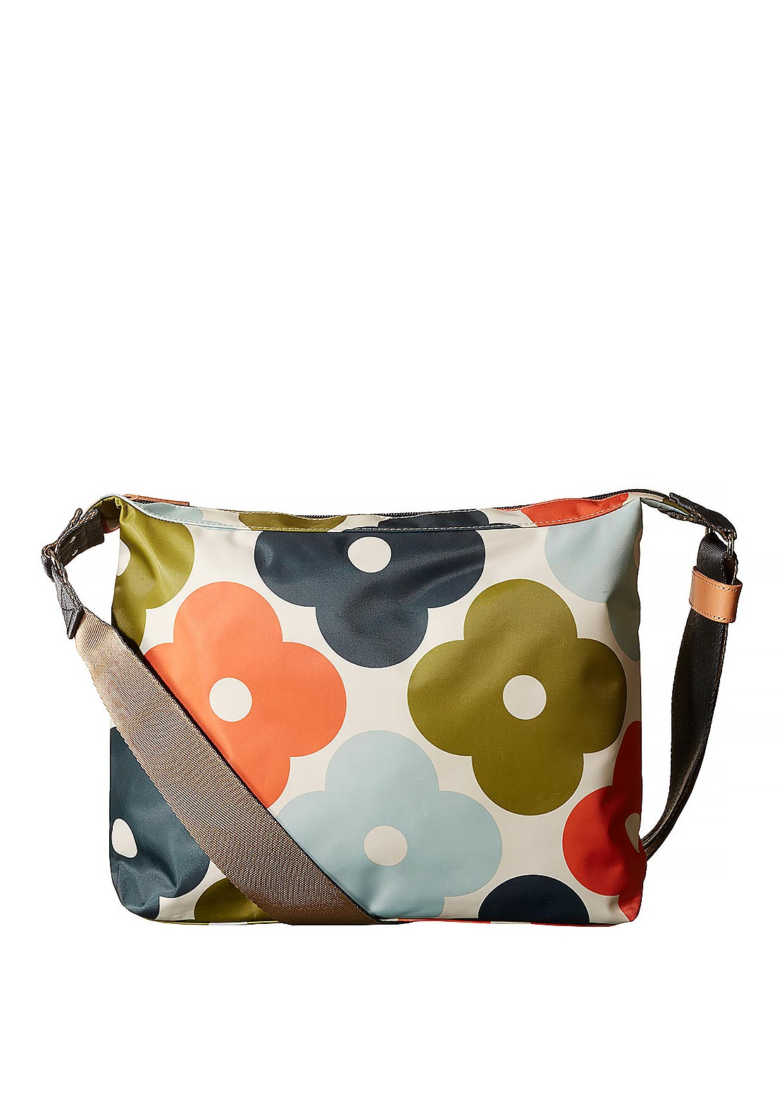 Orla Kiely Giant Flower Spot Print Large Cross Body Bag, Multi-Coloured