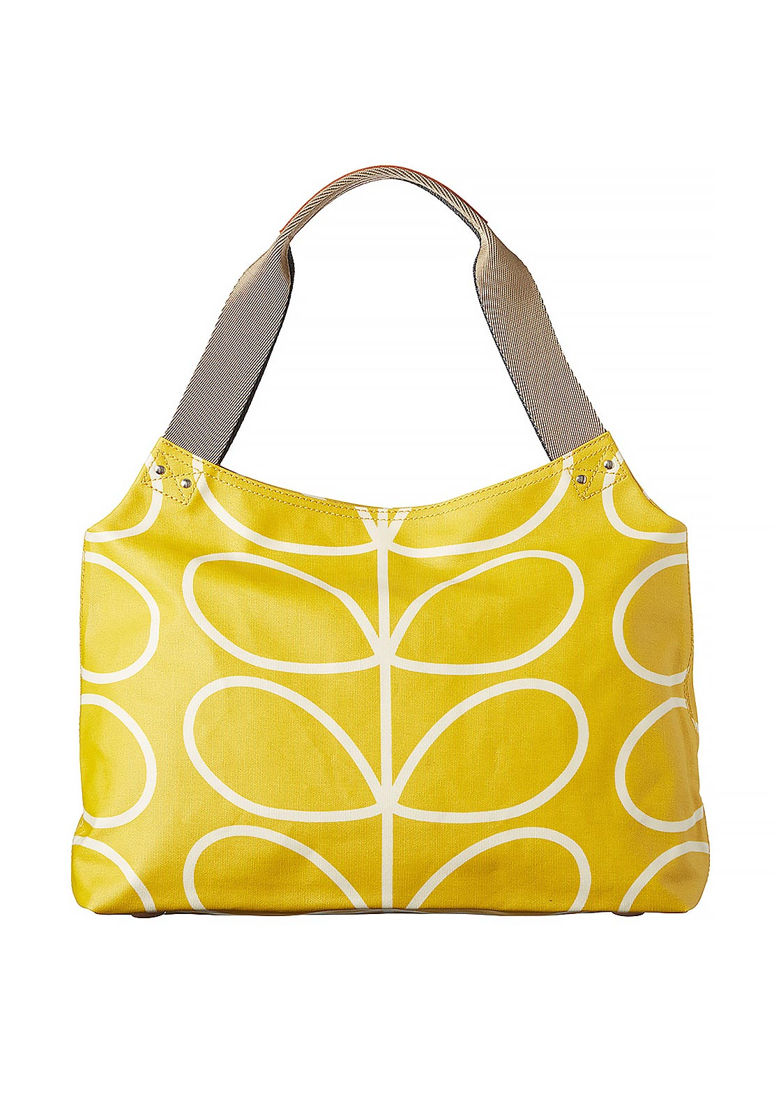 Orla Kiely Giant Linear Stem Zip Shoulder Bag, Dandelion