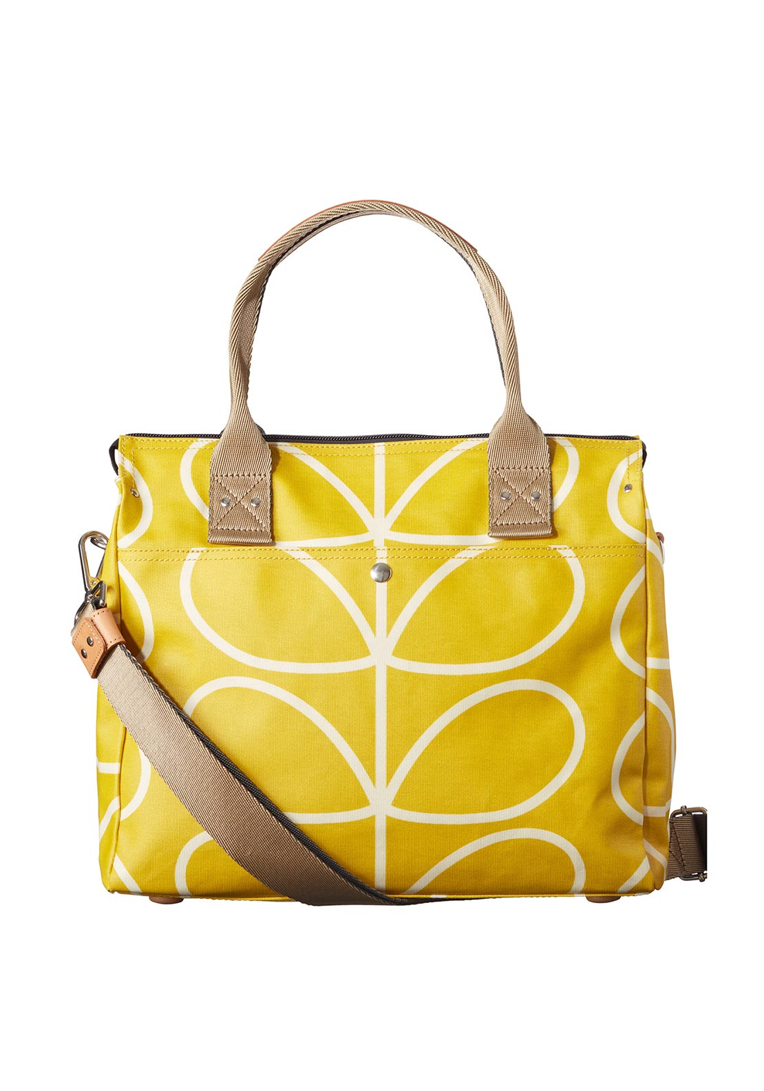 Orla Kiely Giant Linear Stem Big Zip Messenger Bag, Dandelion