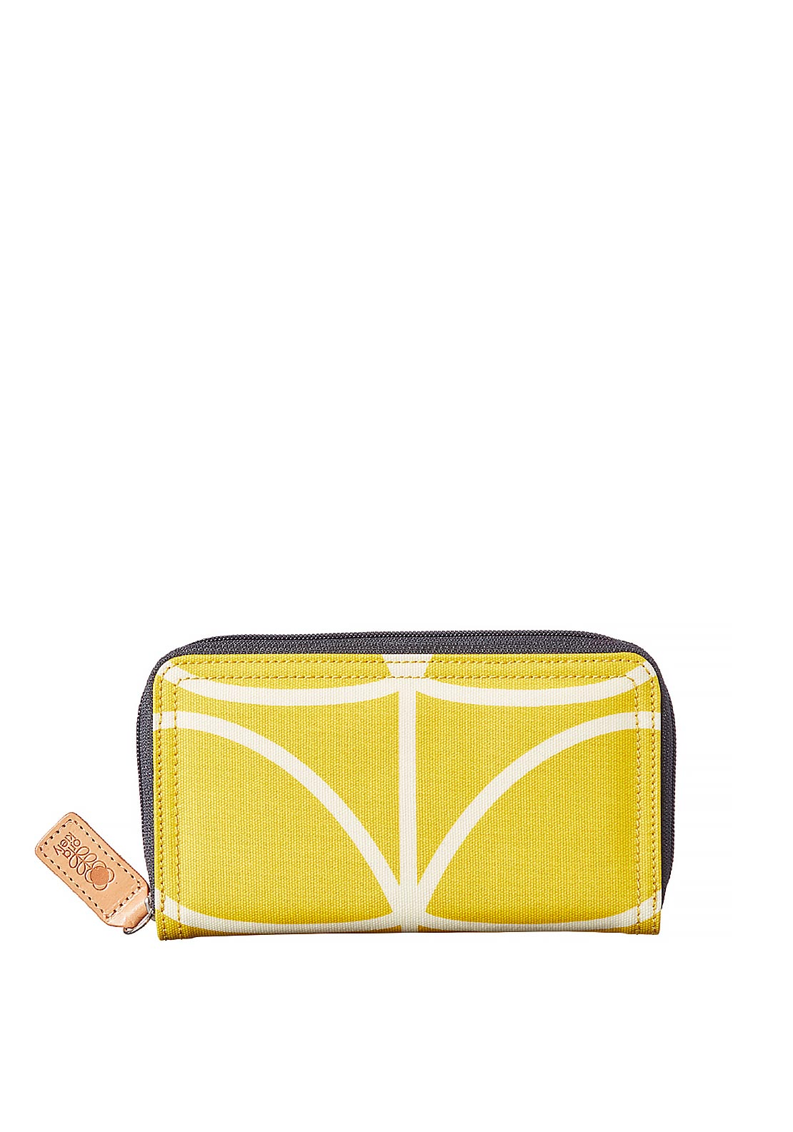 Orla Kiely Giant Linear Stem Big Zip Wallet, Dandelion