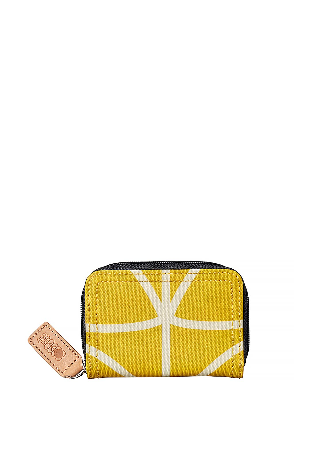 Orla Kiely Giant Linear Stem Medium Zip Wallet, Dandelion