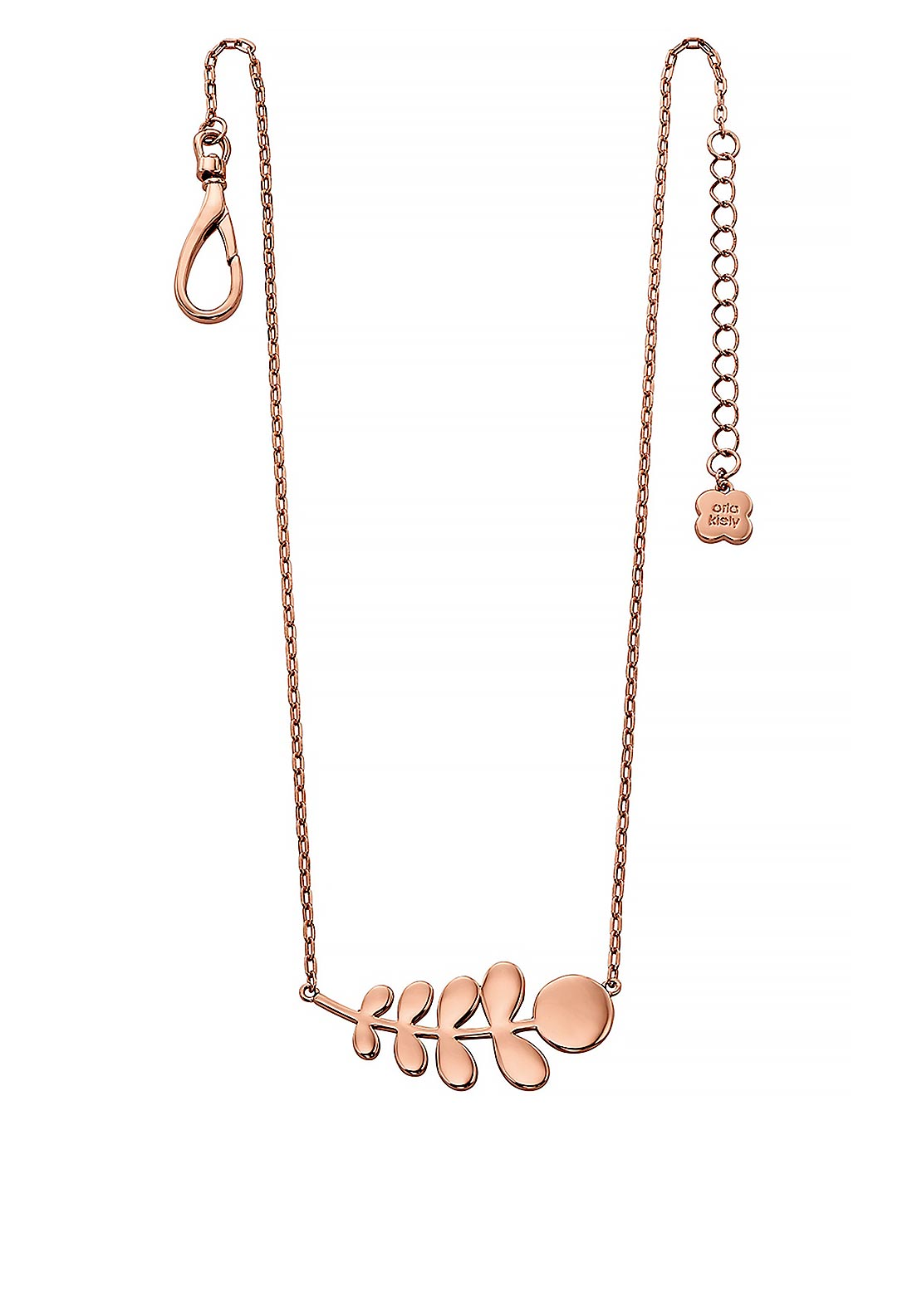 Orla Kiely Buddy Stem Pattern Necklace, Rose Gold