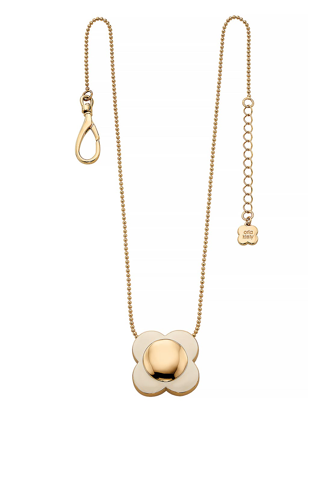 Orla Kiely Daisy Chain Flower Pendant, Cream & Gold