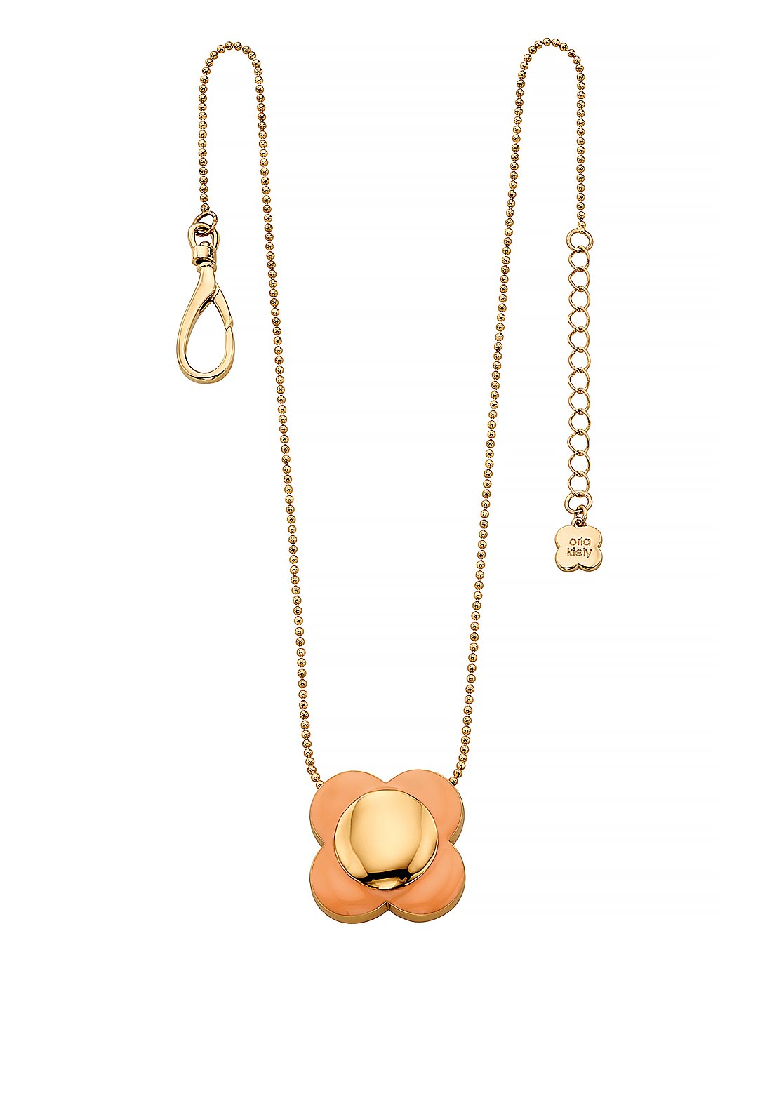 Orla Kiely Daisy Chain Flower Pendant, Blush & Gold
