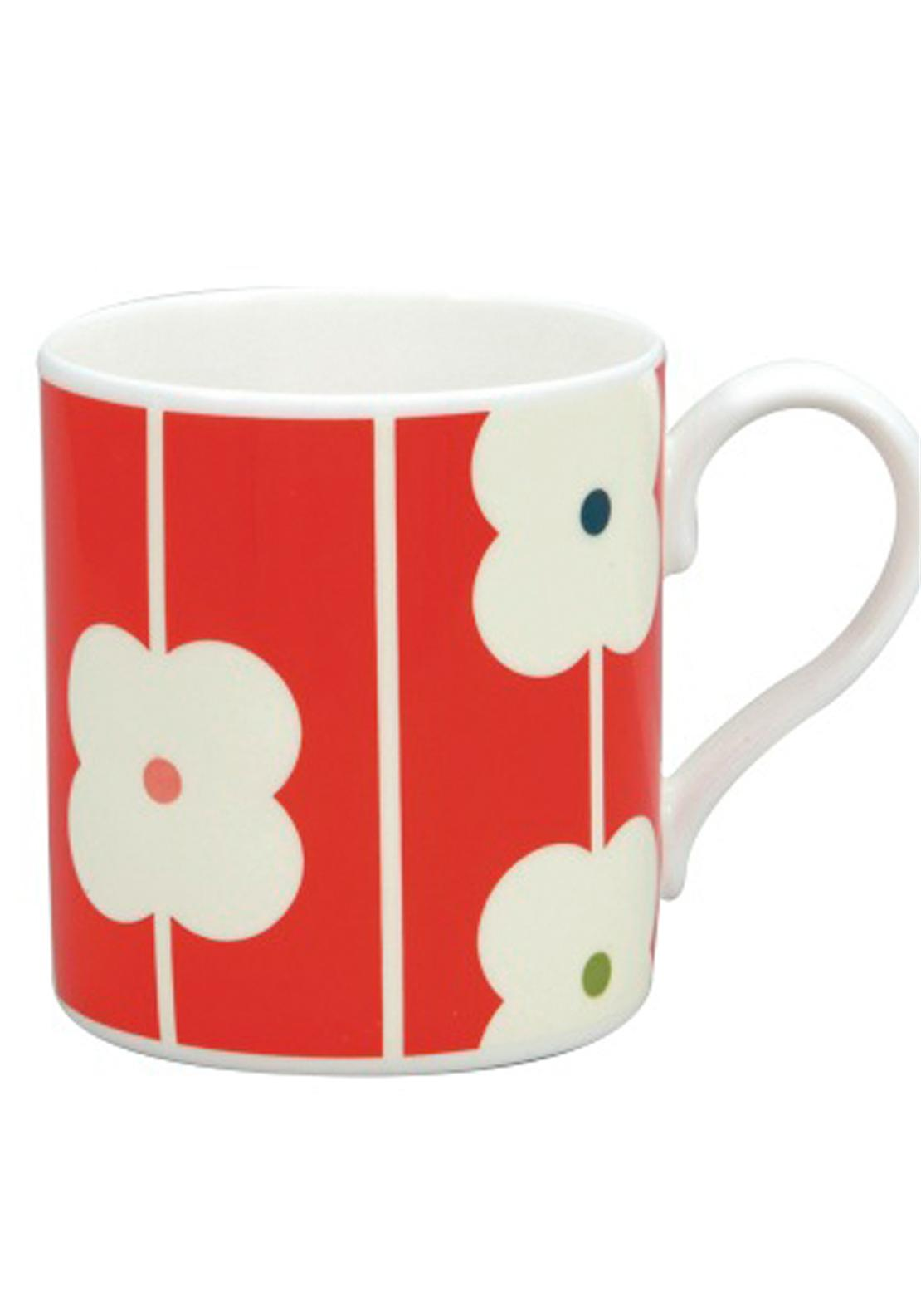 Orla Kiely Flower Abacus Mug, Red