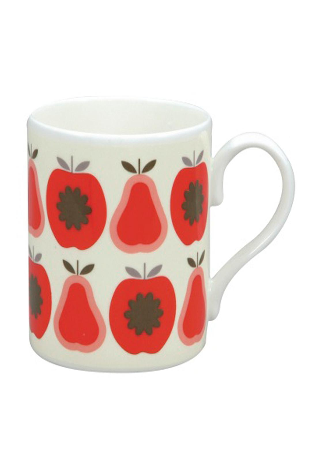 Orla Kiely Apple Pear Mug, Red