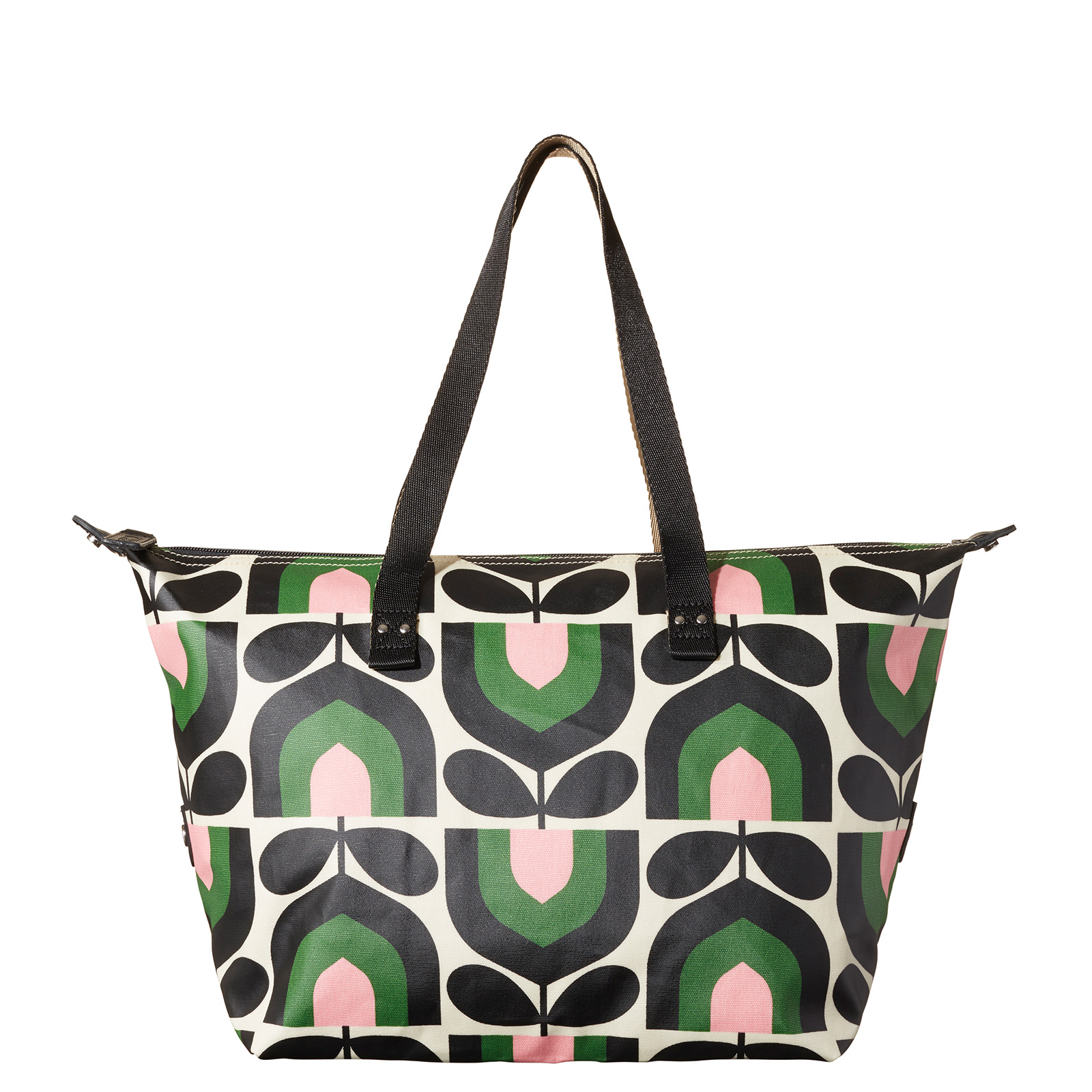 Orla Kiely Stripe Tulip Print Zip Shopper Bag, Spring