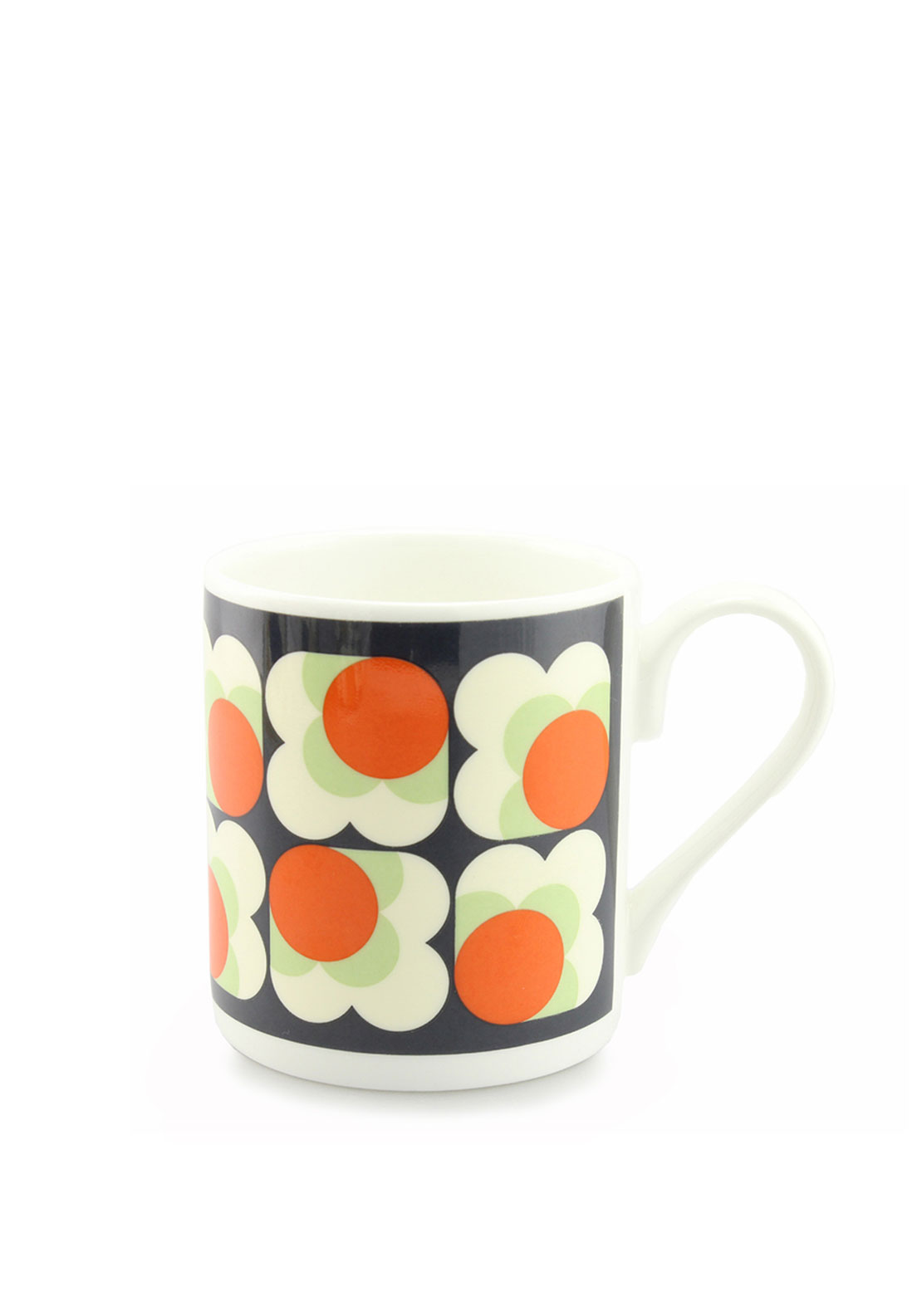 Orla Kiely Big Spot Small Flower Mug, Orange