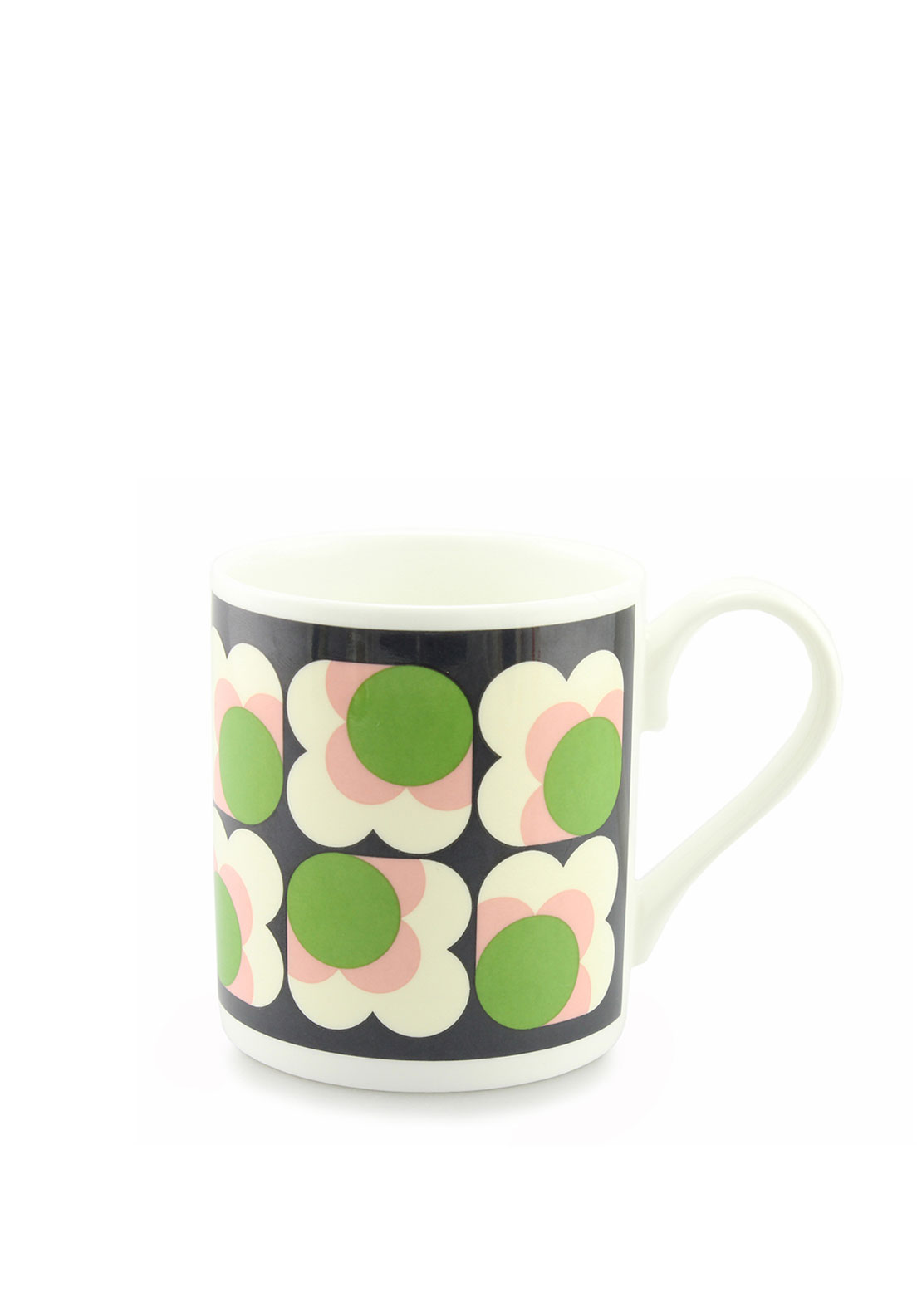 Orla Kiely Big Spot Small Flower Mug, Apple