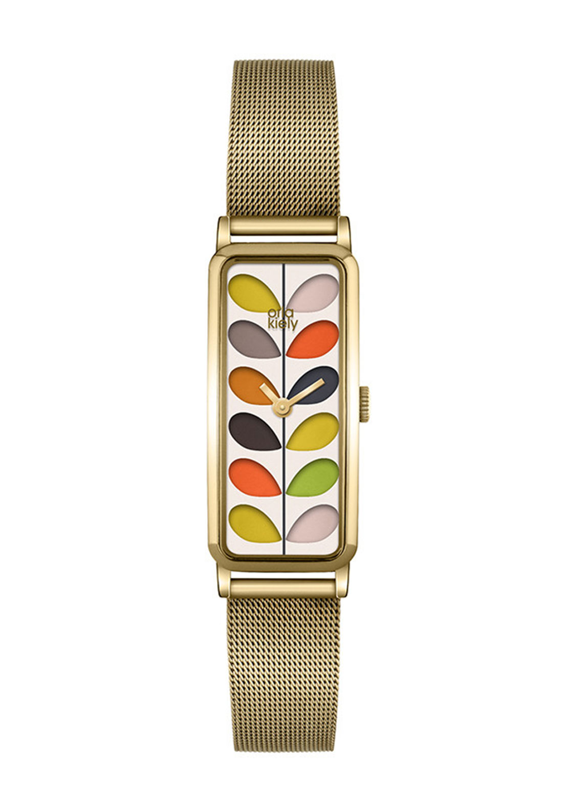 Orla Kiely Rectangular Stem Watch, Gold