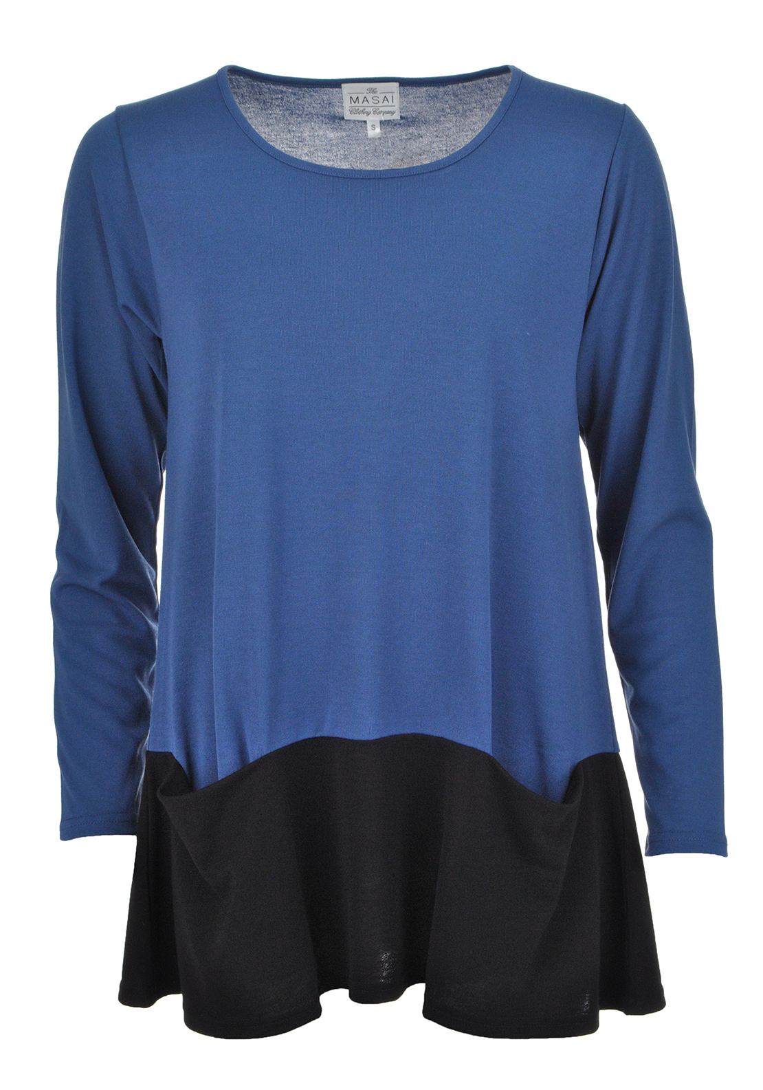 The Masai Clothing Company Blosna A-Line Long Sleeve Top, Blue