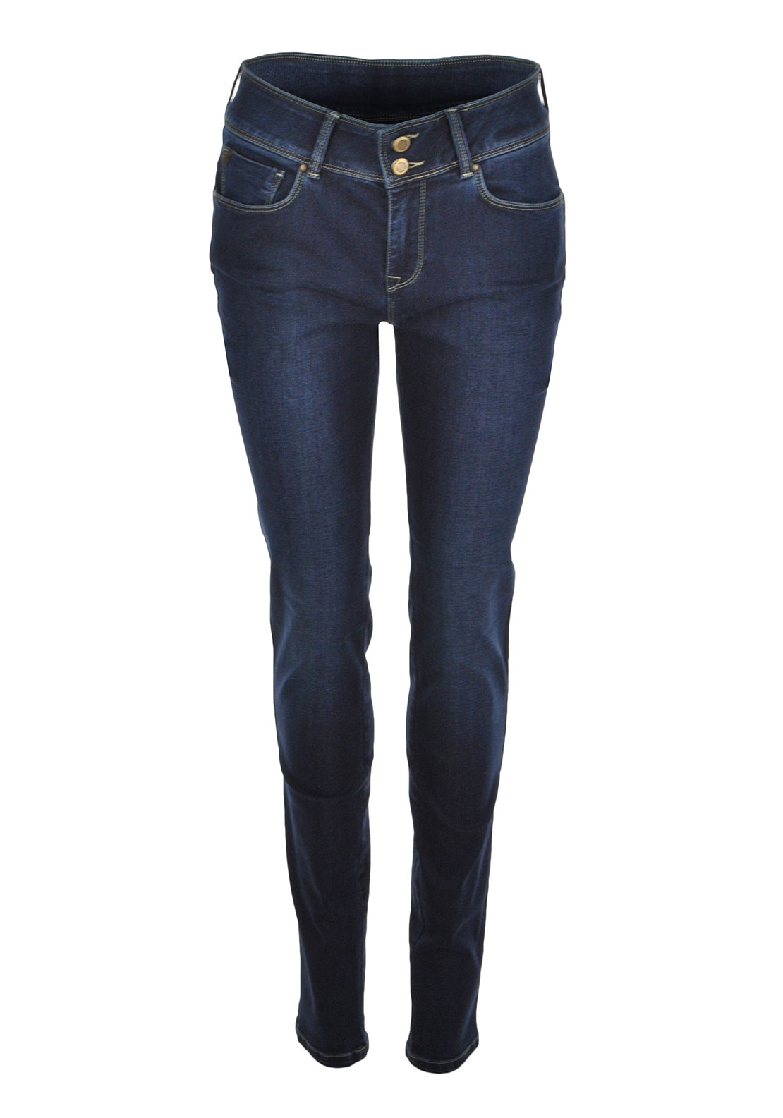 Mos Mosh Porto High Waist Skinny Jeans, Blue Denim