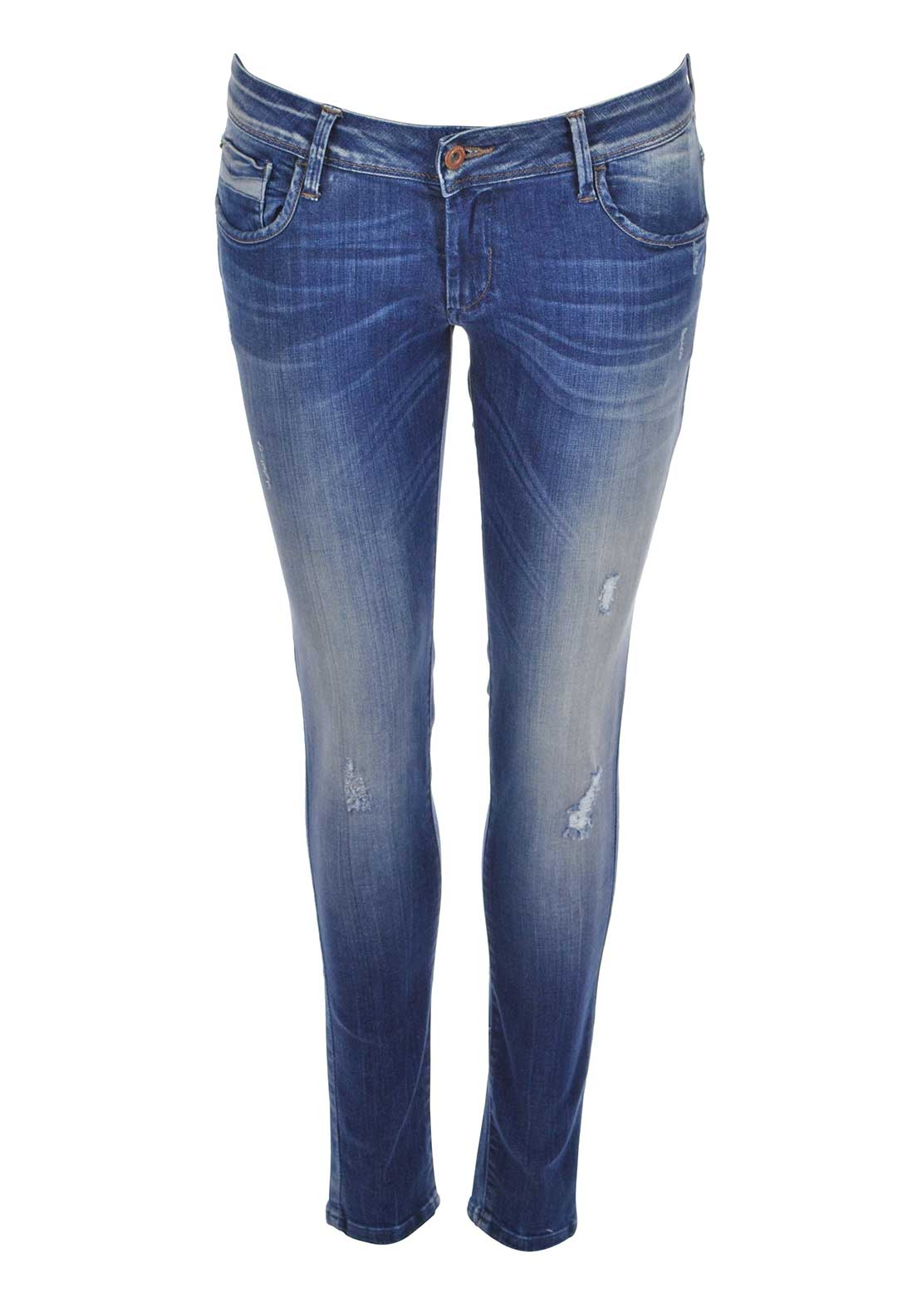 Tiffosi Kate Ripped Skinny Jeans, Blue Denim