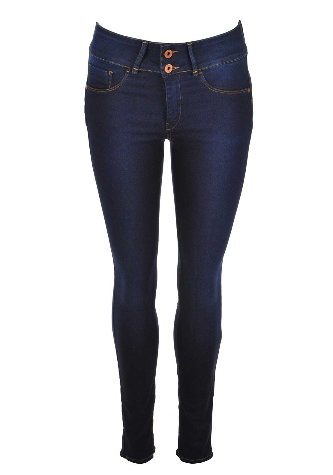 Tiffosi Womens One Size Double Up Skinny Jeans, Dark Blue Denim