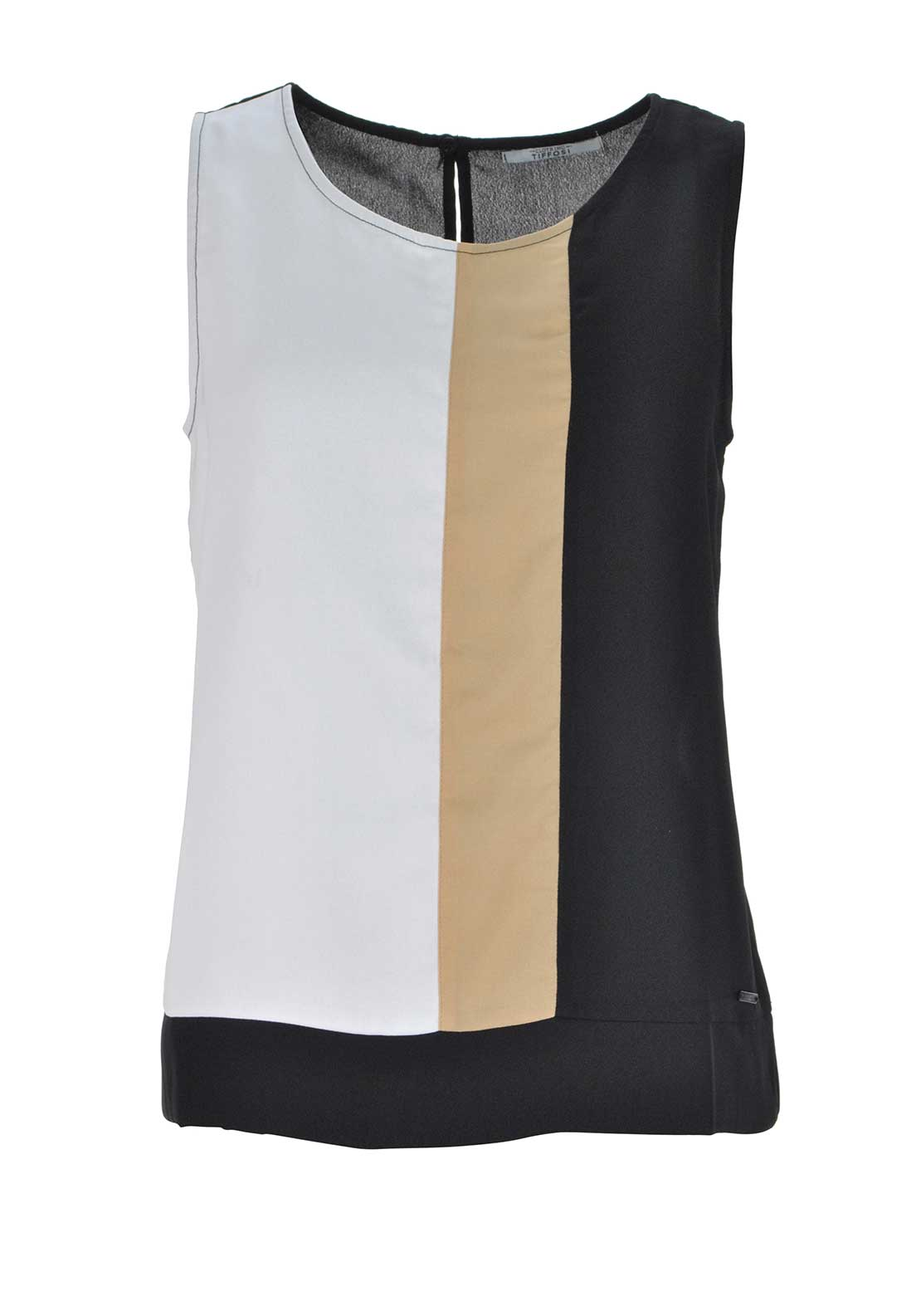 Tiffosi Womens Emirates Sleeveless Panel Top, Black