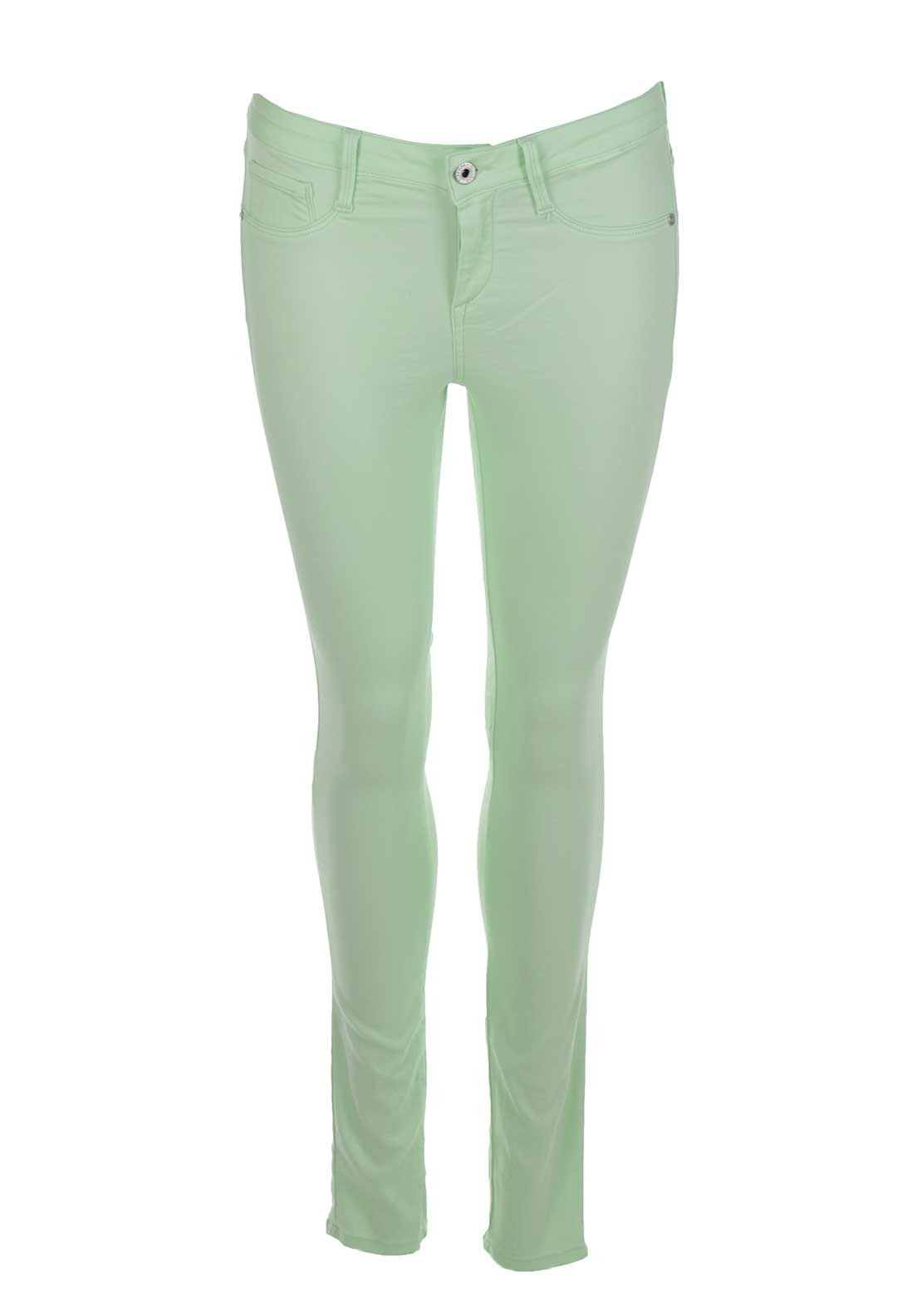 Tiffosi Womens One Size Fits All Original Skinny Jeans, Mint Green