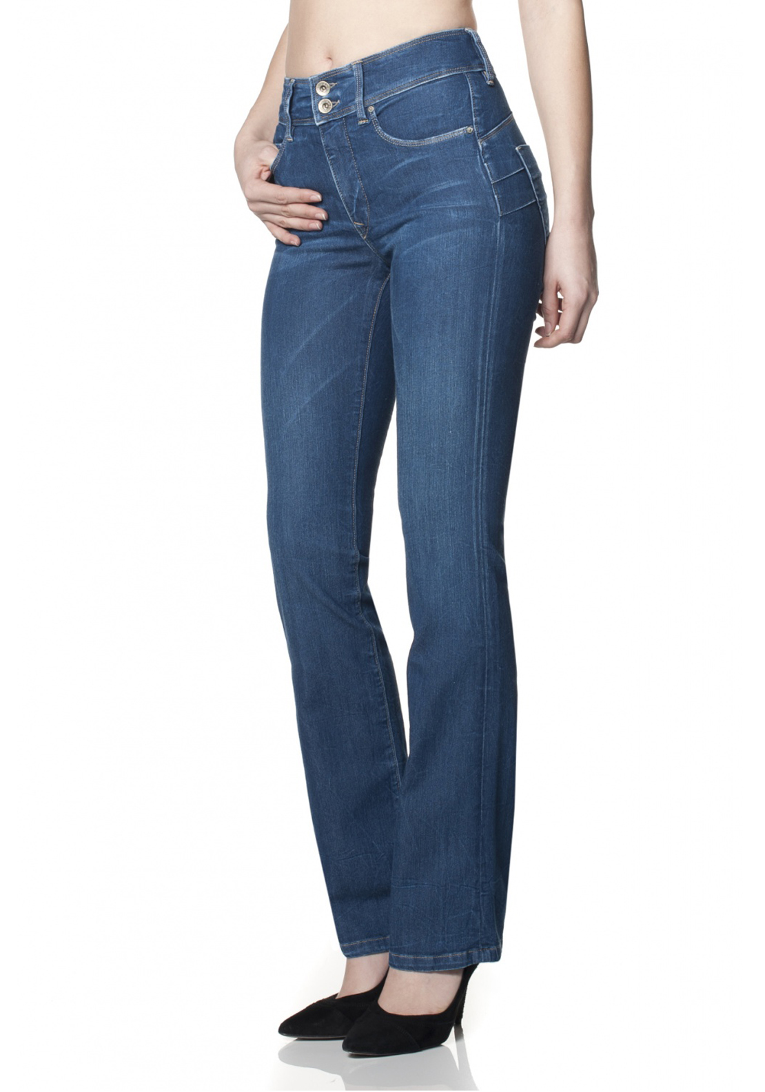 Salsa Secret Boot Cut Push In Jeans, Blue Denim