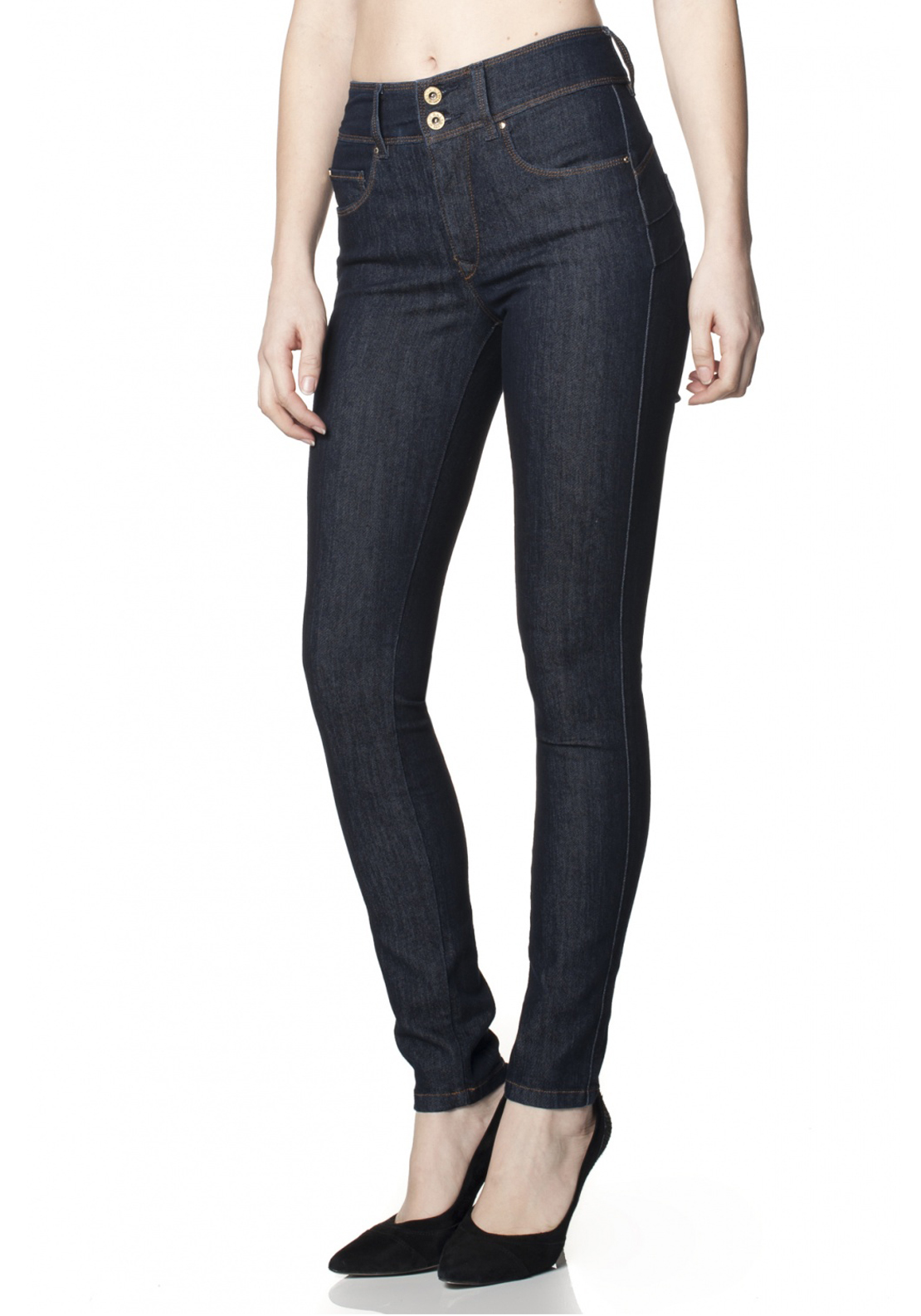 Salsa Secret Skinny Push In Jeans, Navy Denim
