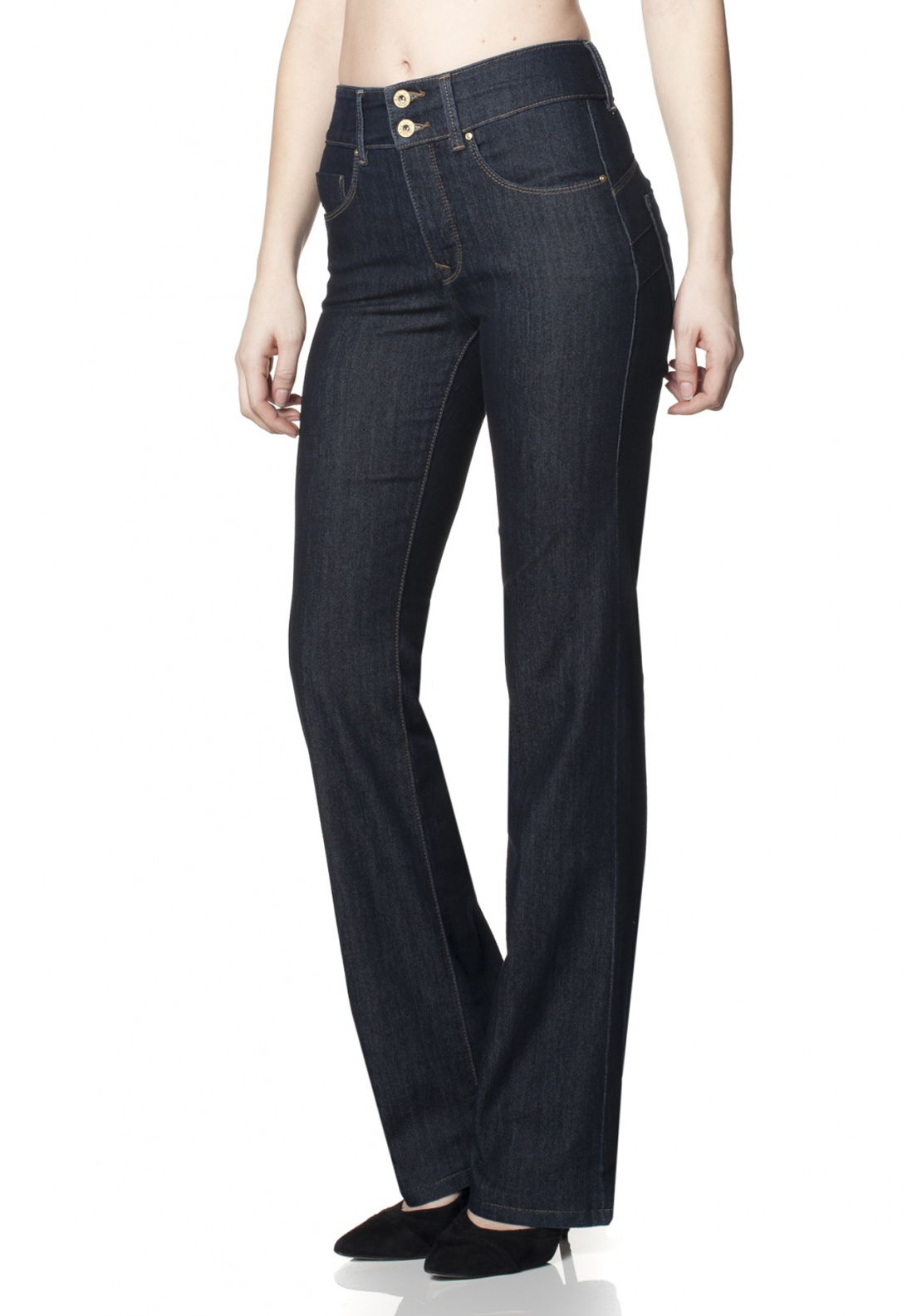 Salsa Secret Boot Cut Push In Jeans, Navy Denim