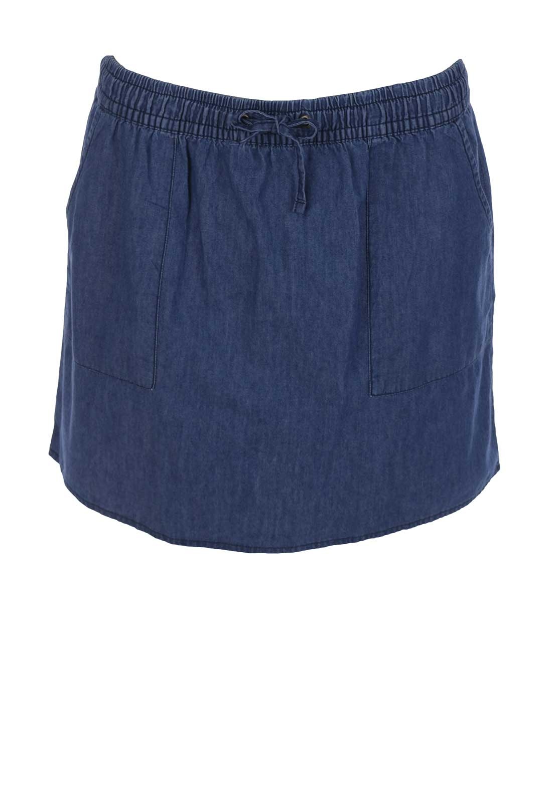 Vero Moda Shorty Chambray Mini Skirt, Medium Blue Denim
