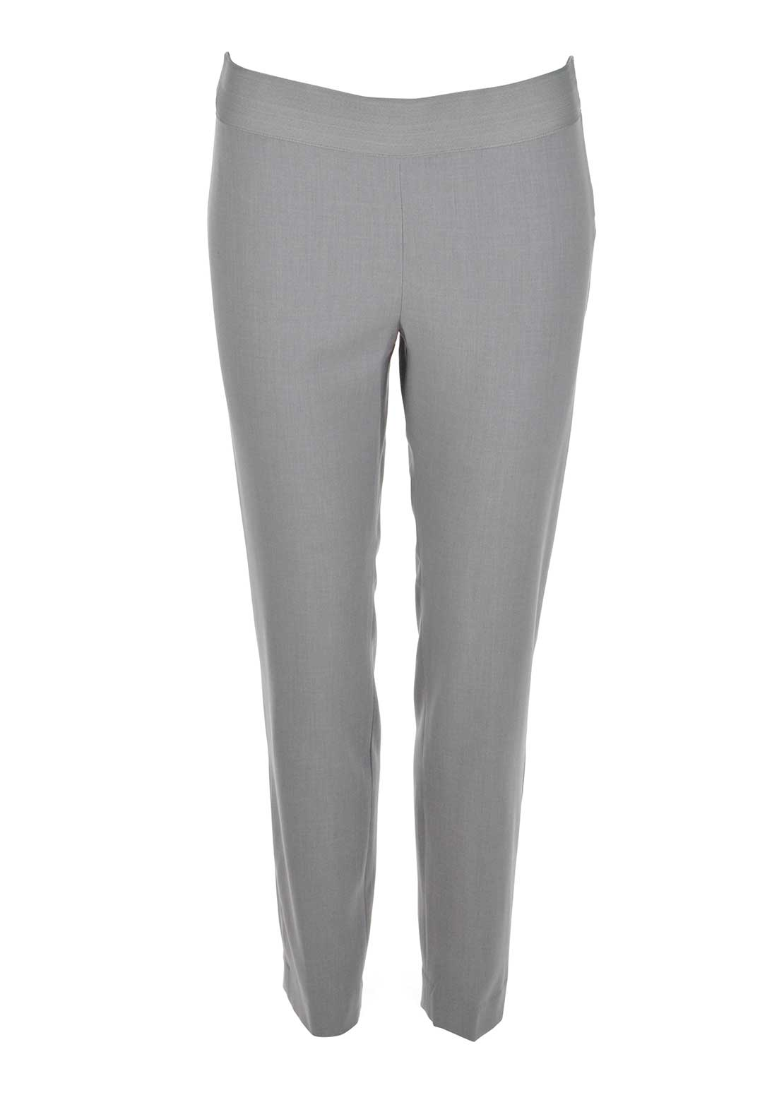Vero Moda Rise 7/8 Cigarette Trousers, Light Grey Melange